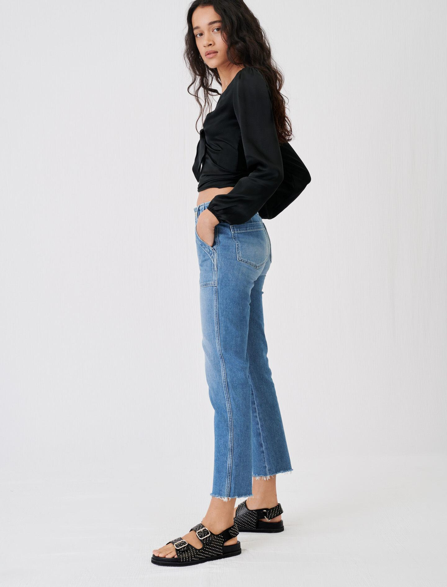 JEANS WITH TOPSTITCHED POCKETS 2