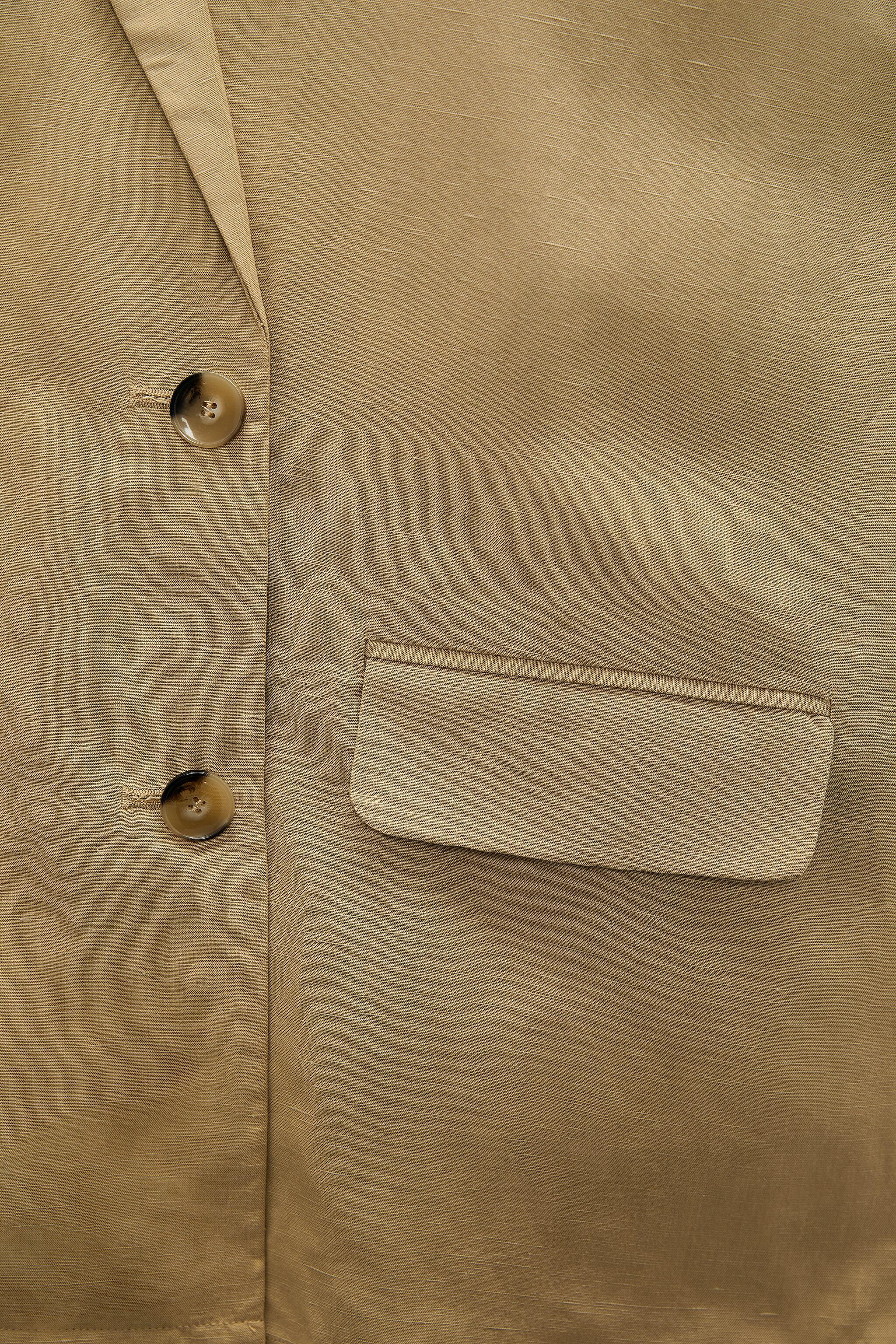 LINEN BLEND DOUBLE BREASTED BLAZER 5