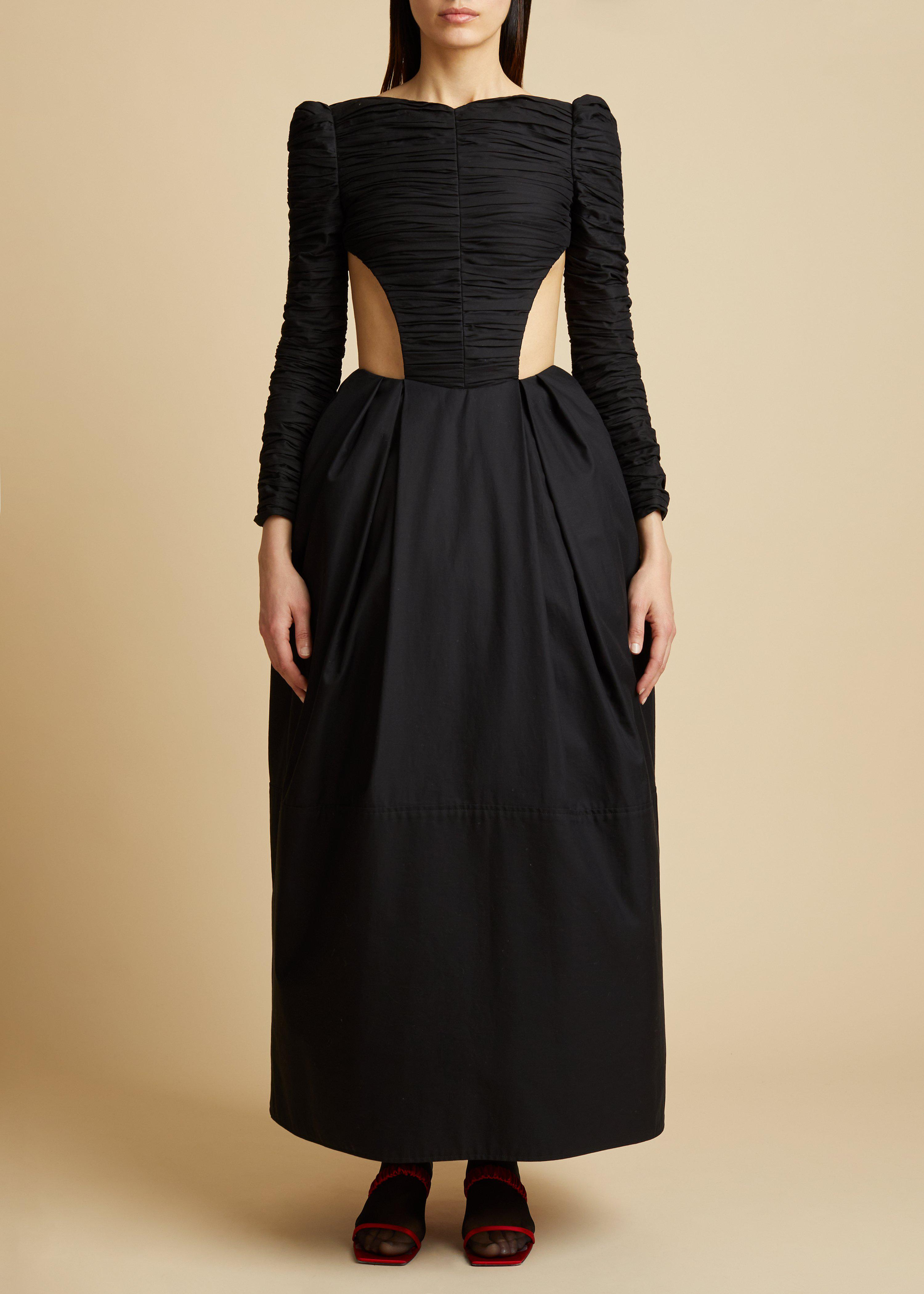 The Rosaline Dress with Petticoat in Black 1