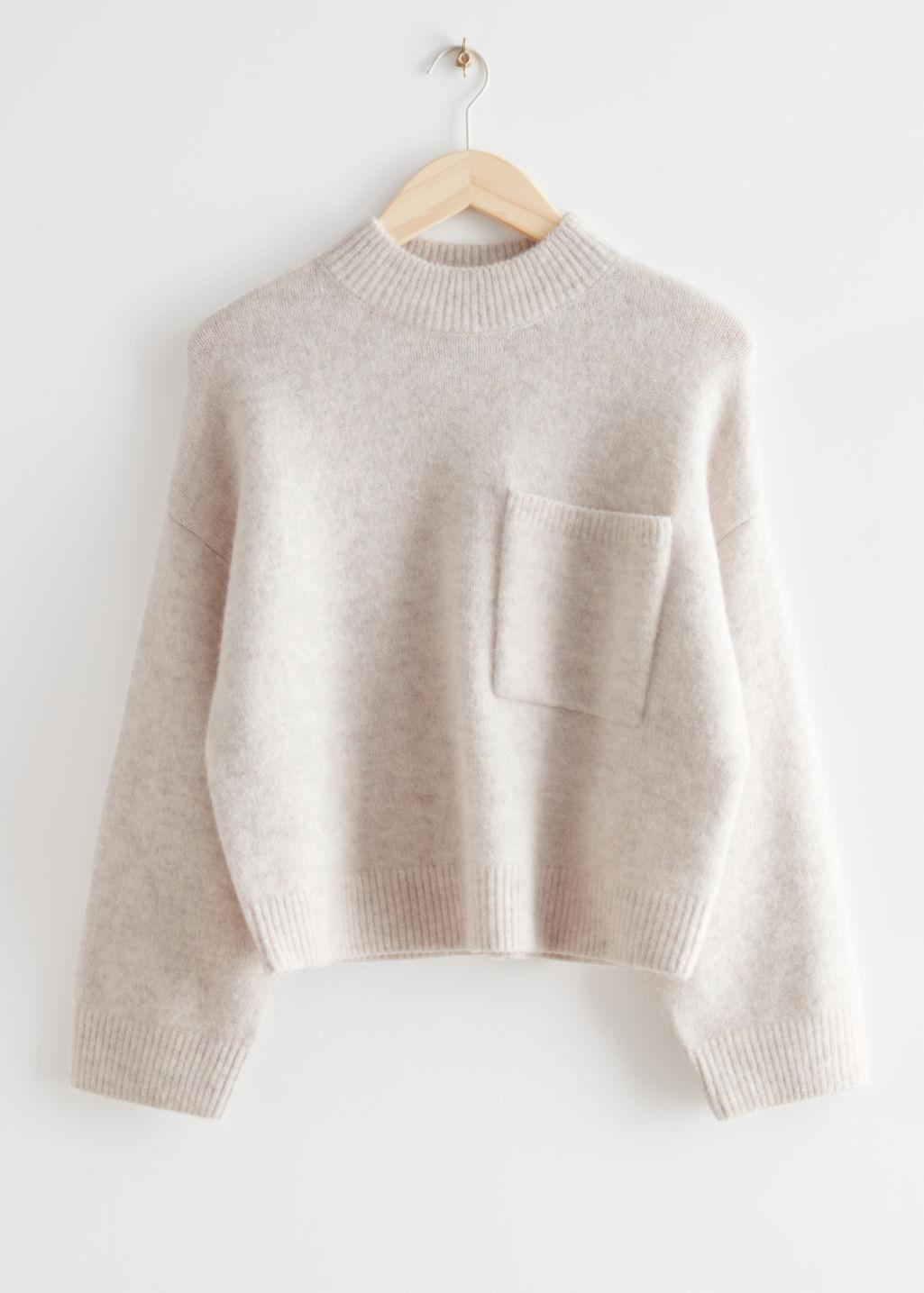 Chest Pocket Knit Sweater