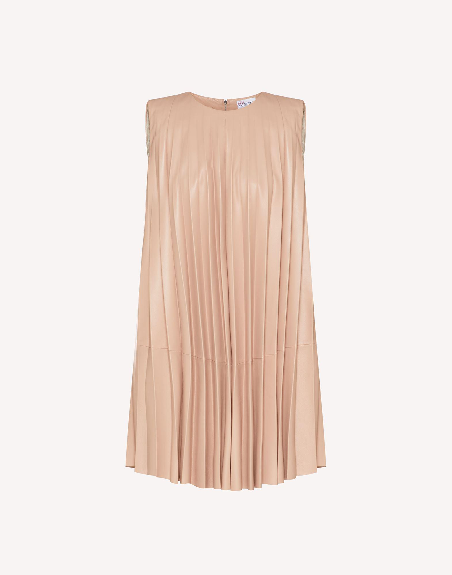 PLEATED LEATHER DRESS 4