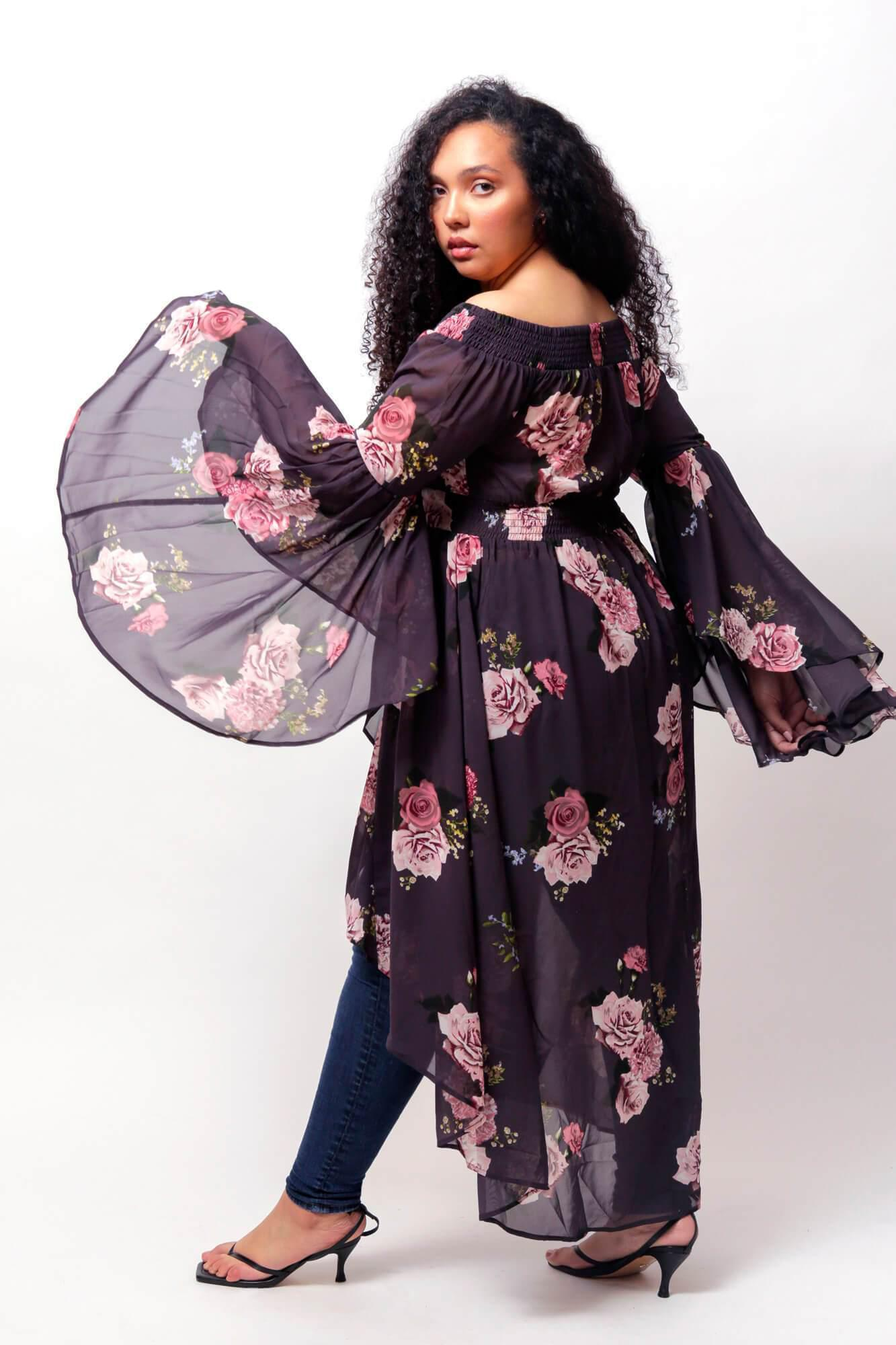 Romance Off The Shoulder Duster 3