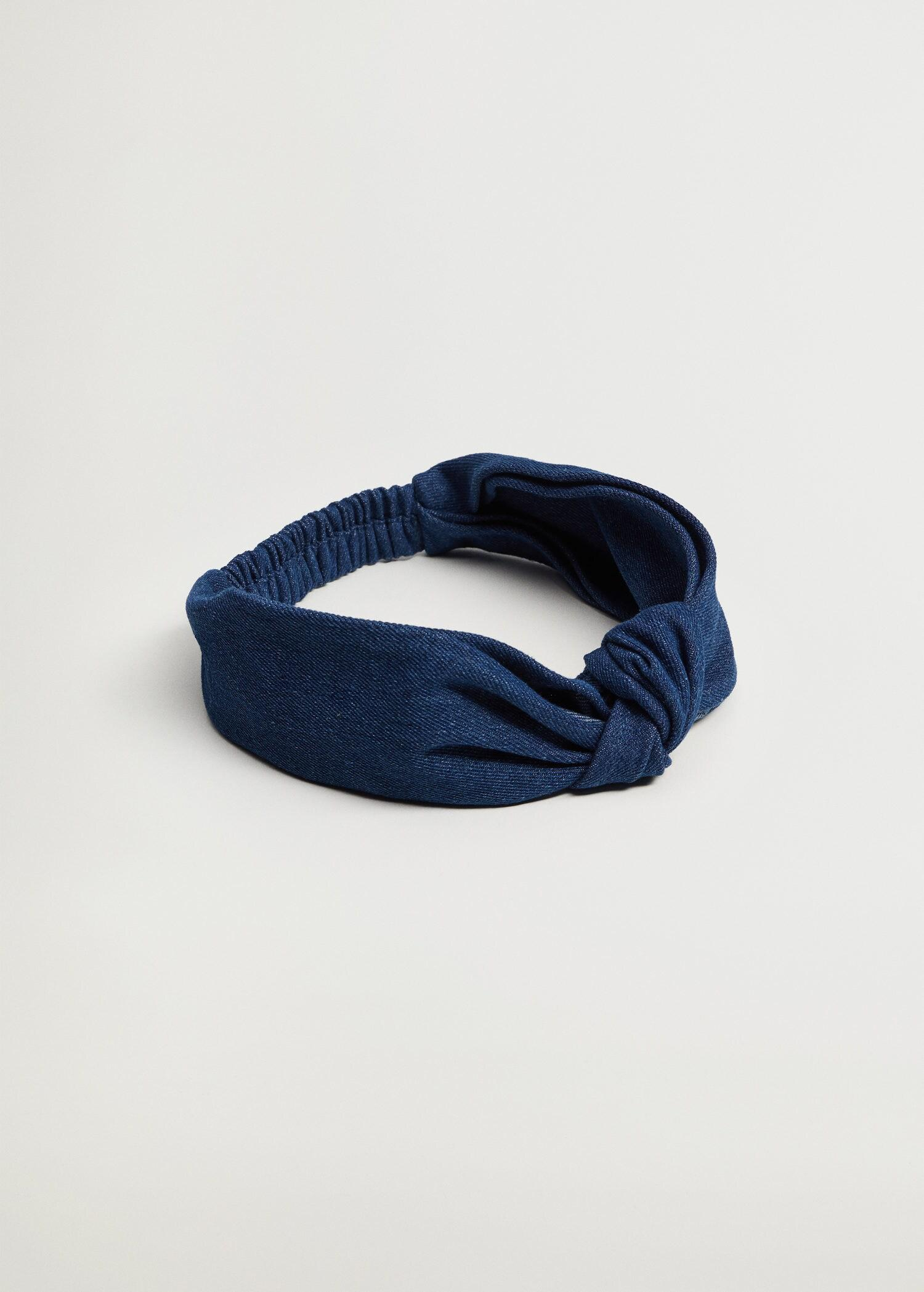 Denim hairband with knot