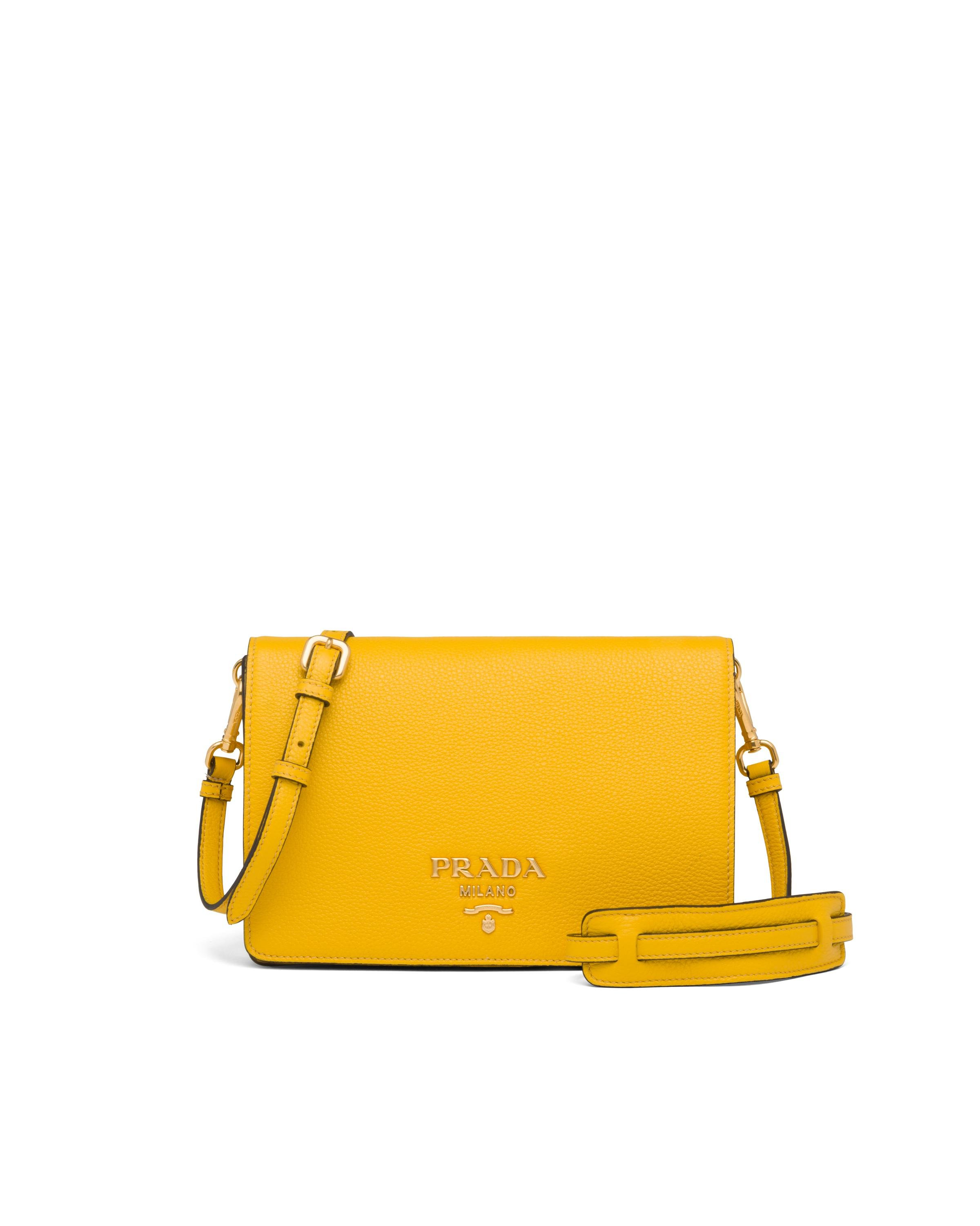 Leather Shoulder Bag Women Sunny Yellow 7