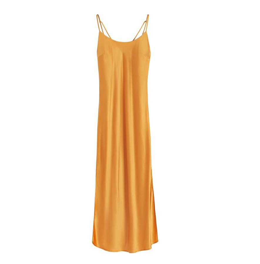 Women's Charmeuse Slip Dress in Citrine | Size: Large | Silk Charmeuse by Cuyana