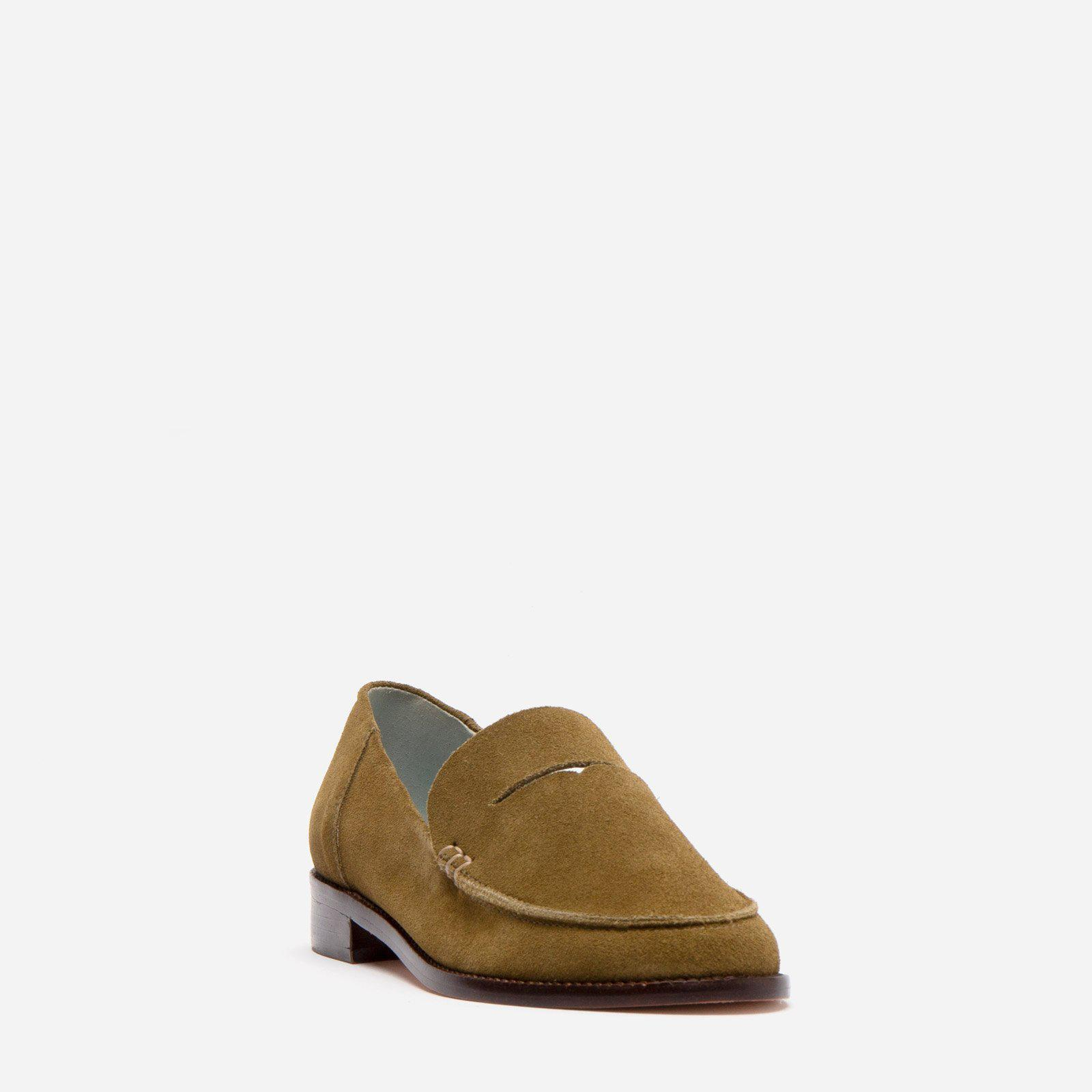 Penny Loafer Suede Moss 1