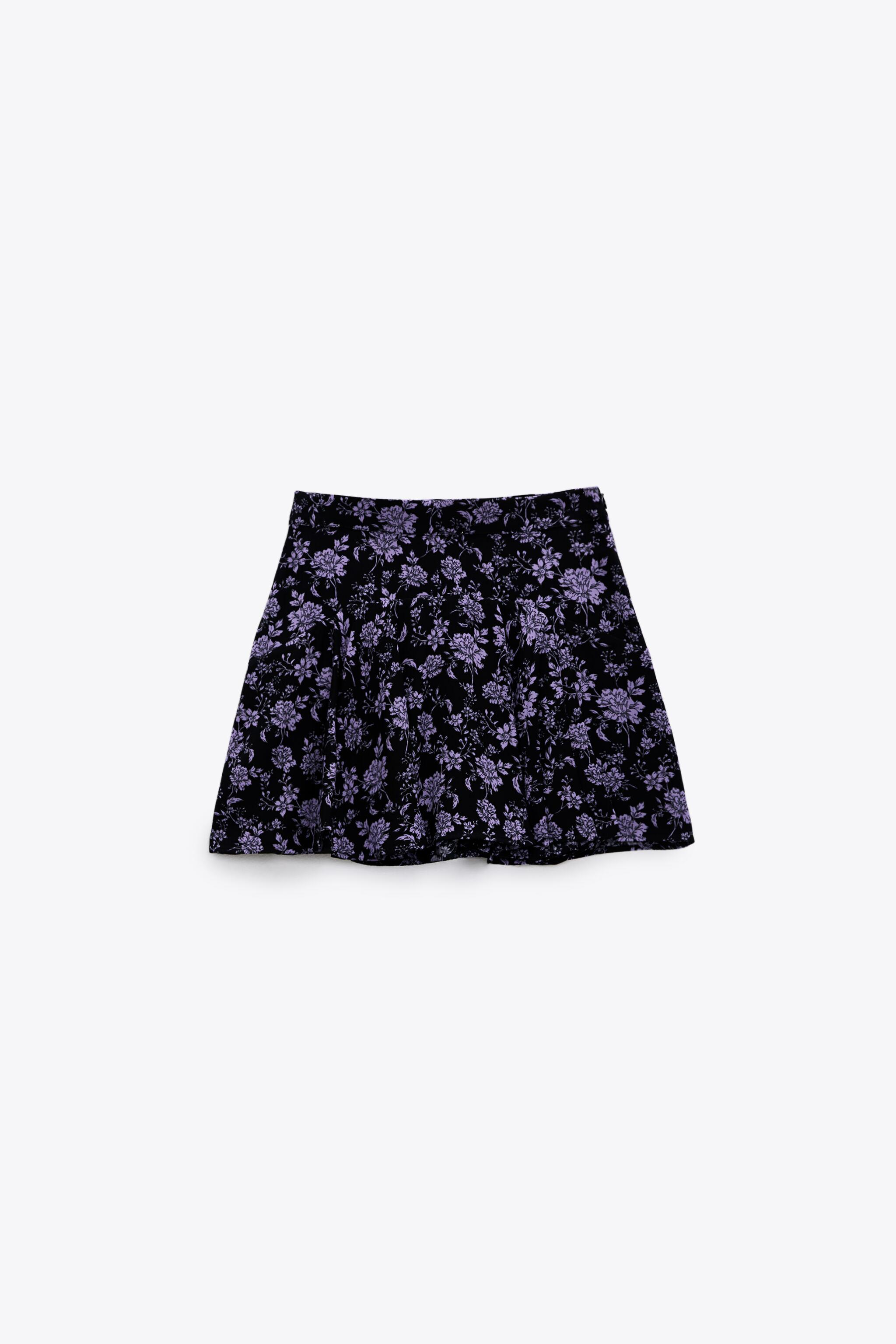PRINT PANTS WITH SKIRT FRONT 4