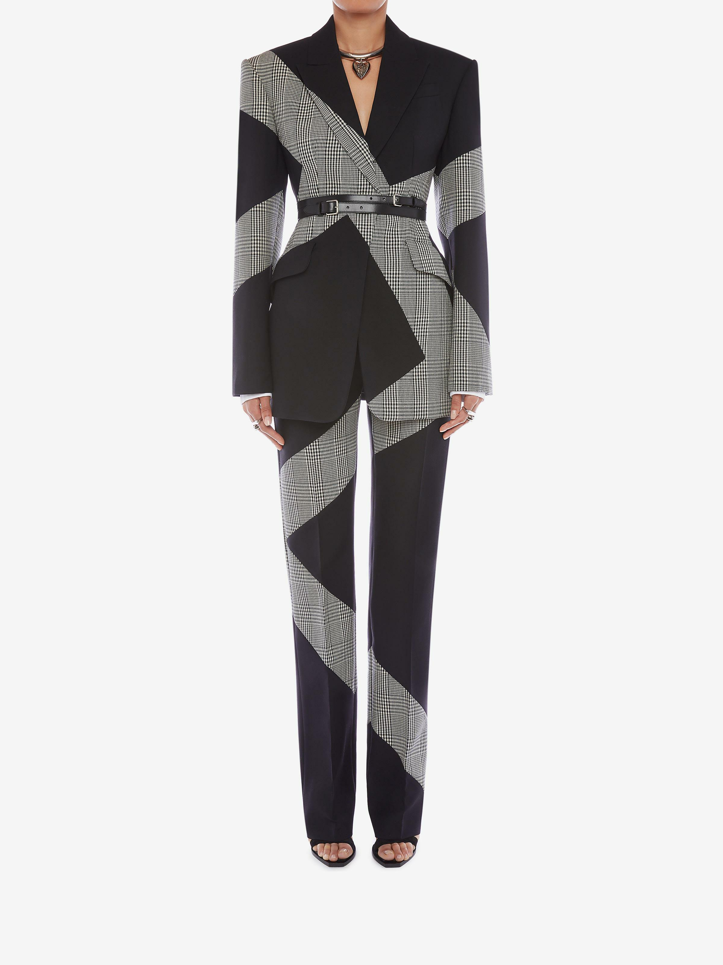 Prince of Wales Spliced Cigarette Pants