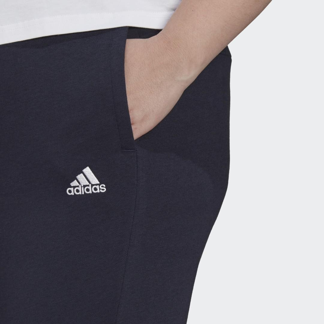 Essentials French Terry Logo Pants (Plus Size) Dark Blue 4