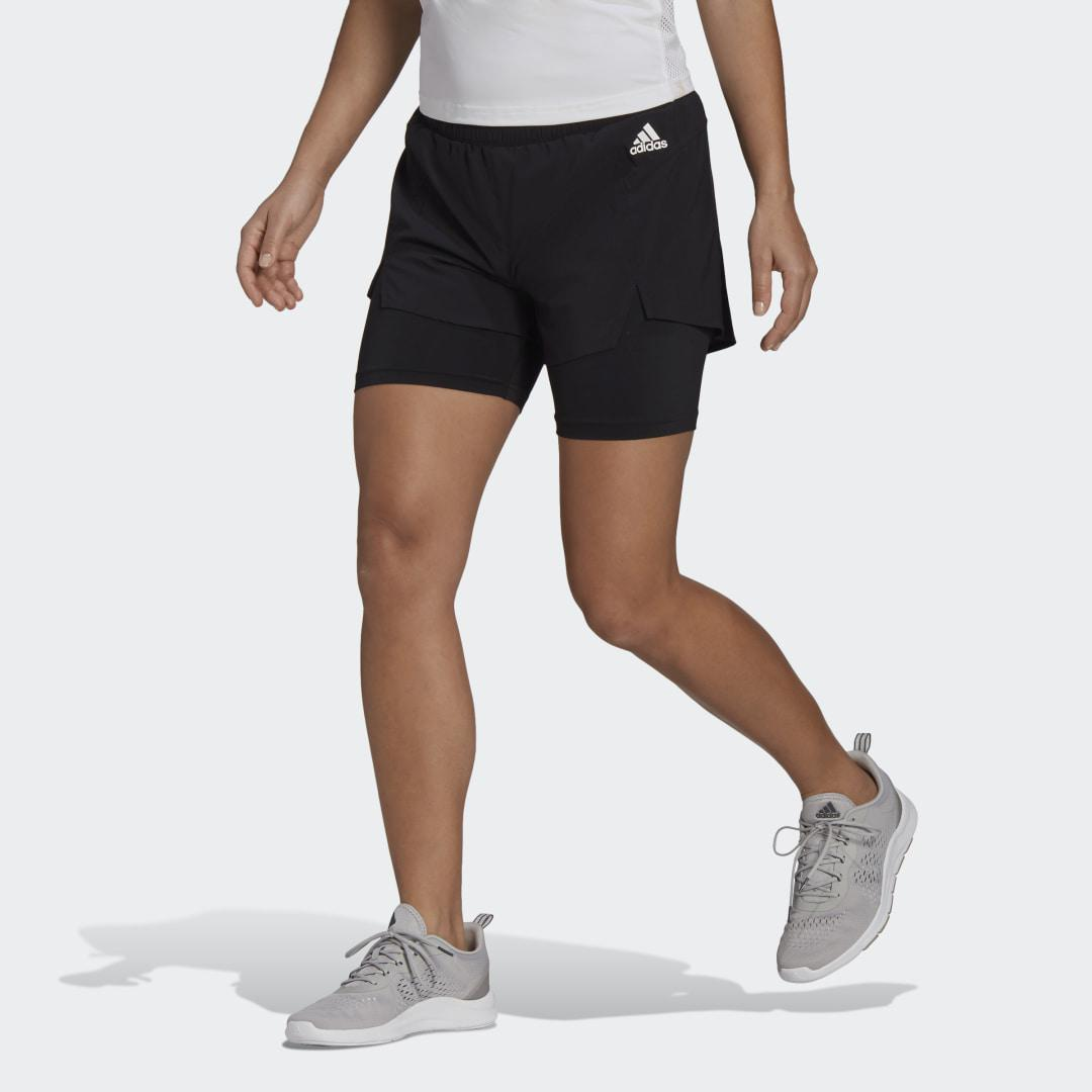Primeblue Designed To Move 2-in-1 Sport Shorts Black XS - Womens Training Shorts 0