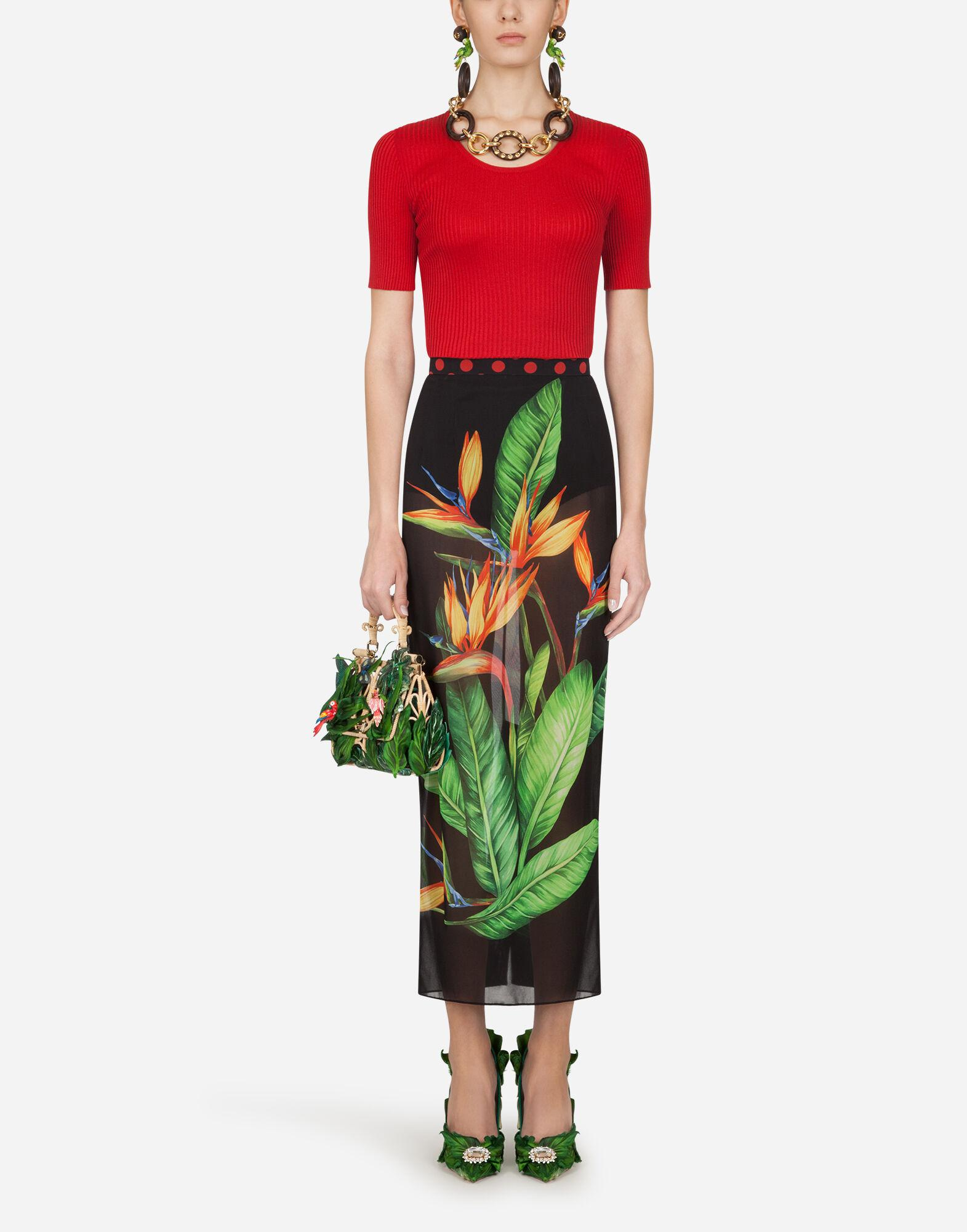 Short-sleeved ribbed sweater in silk 3