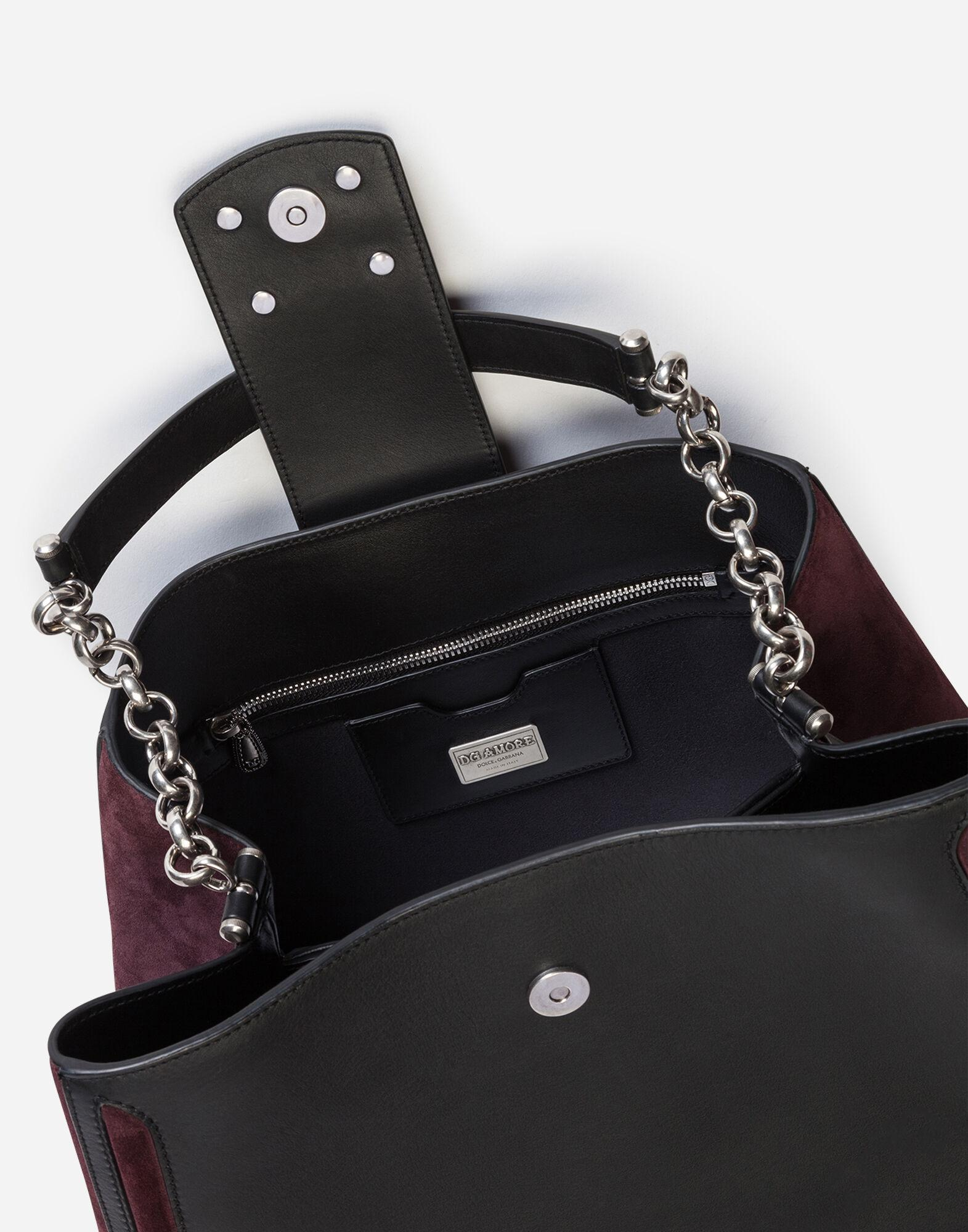 Large DG Amore bag in mixed materials 3