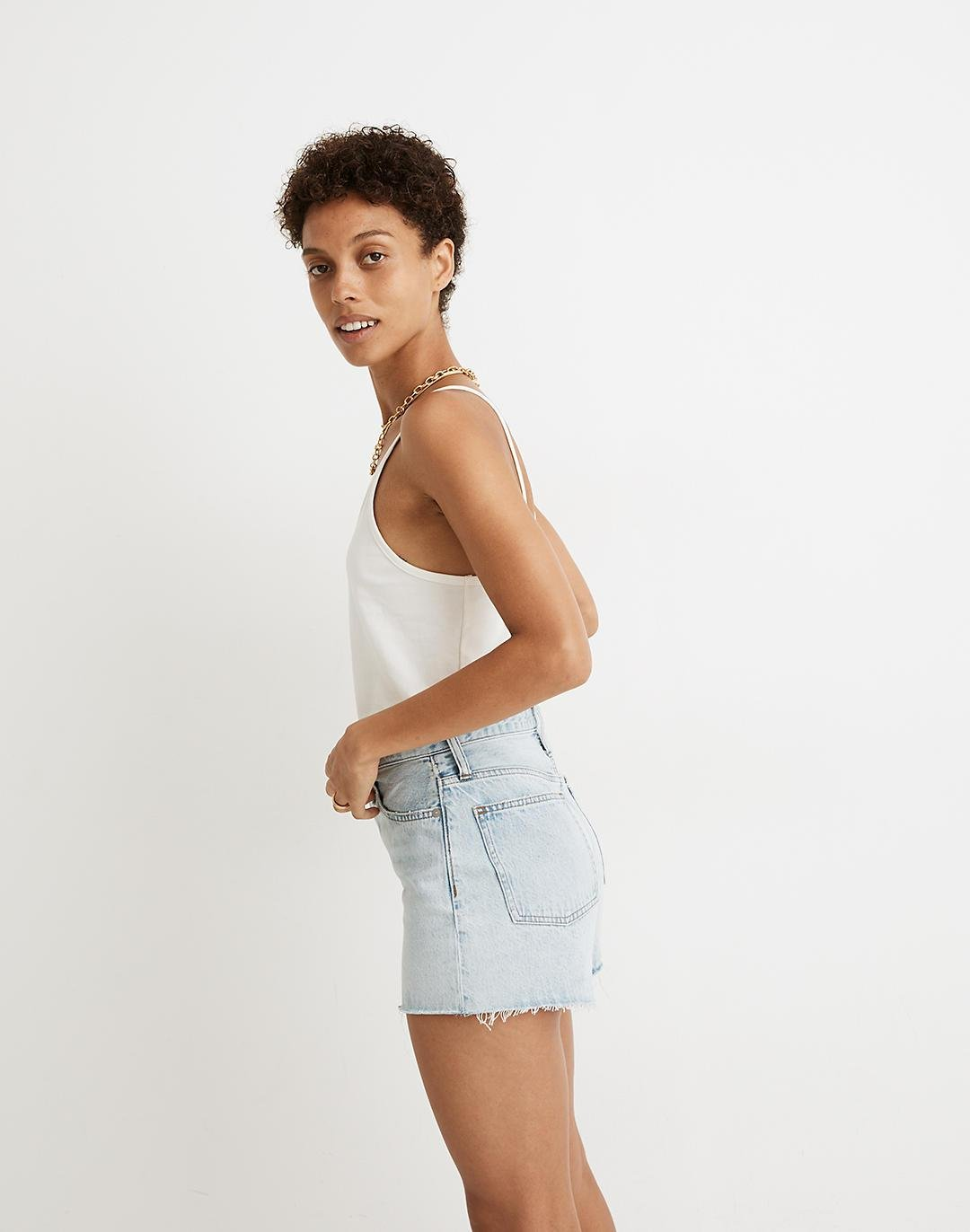 The Perfect Jean Short in Millman Wash 1