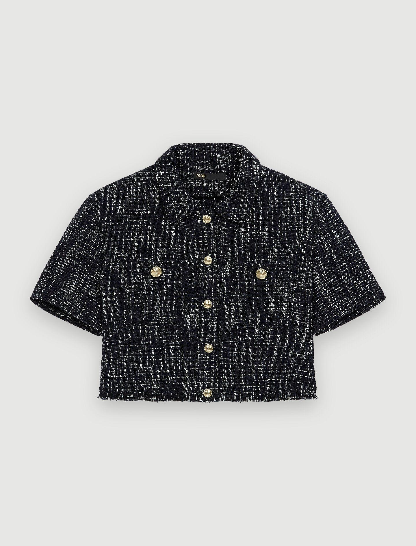 TWEED-STYLE CROPPED SHIRT 4