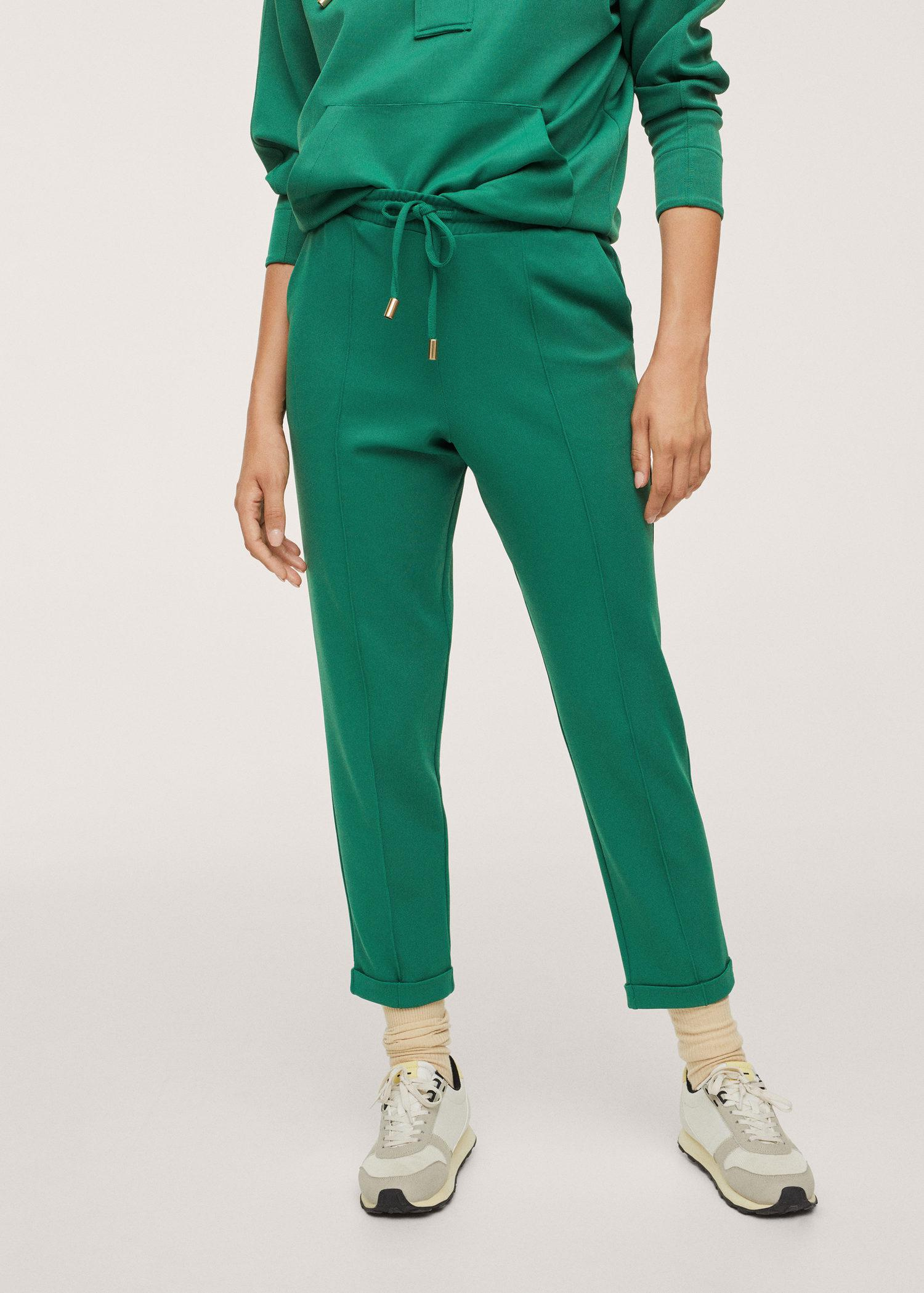 Cotton jogger-style trousers