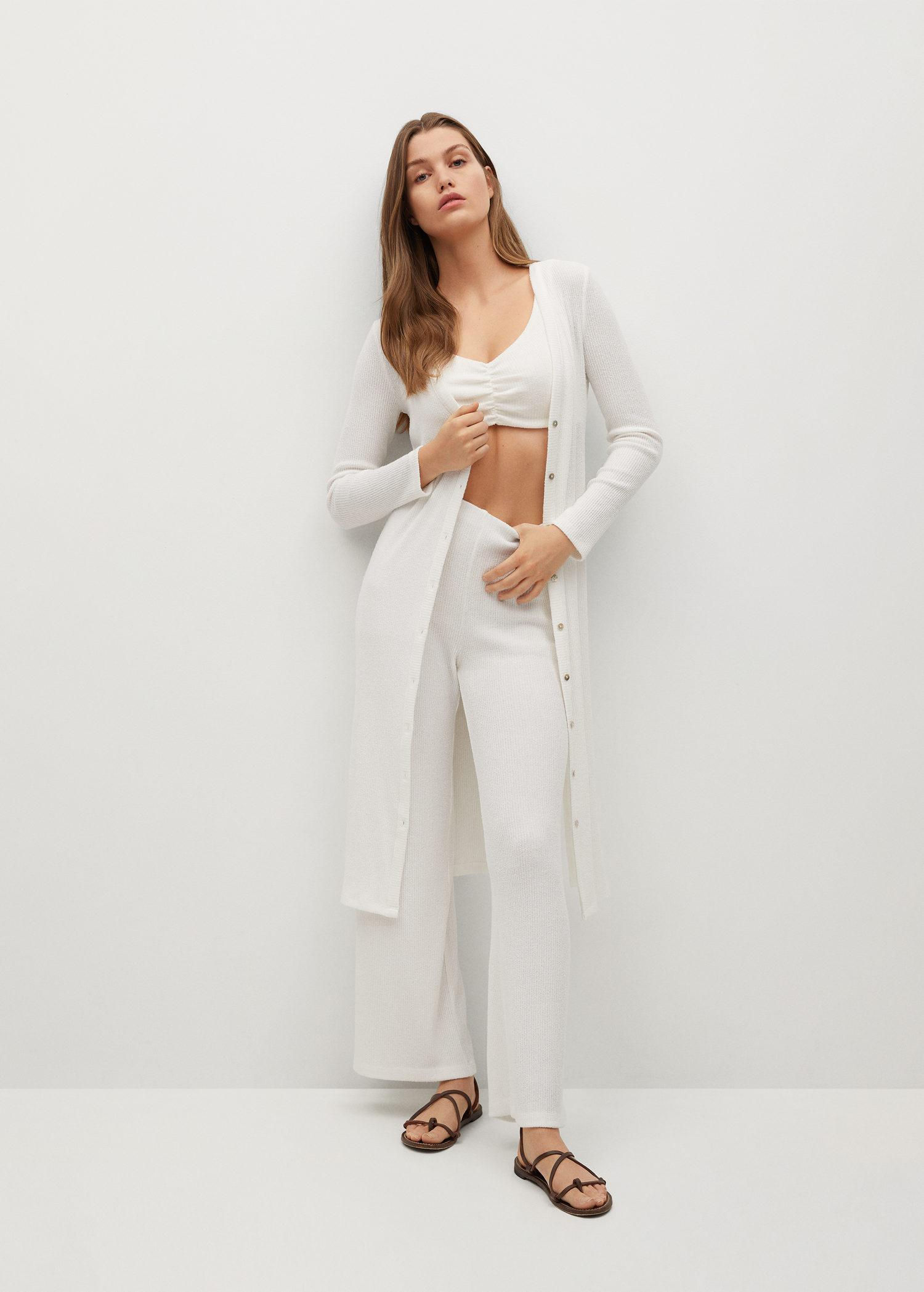 Ribbed soft trousers 1