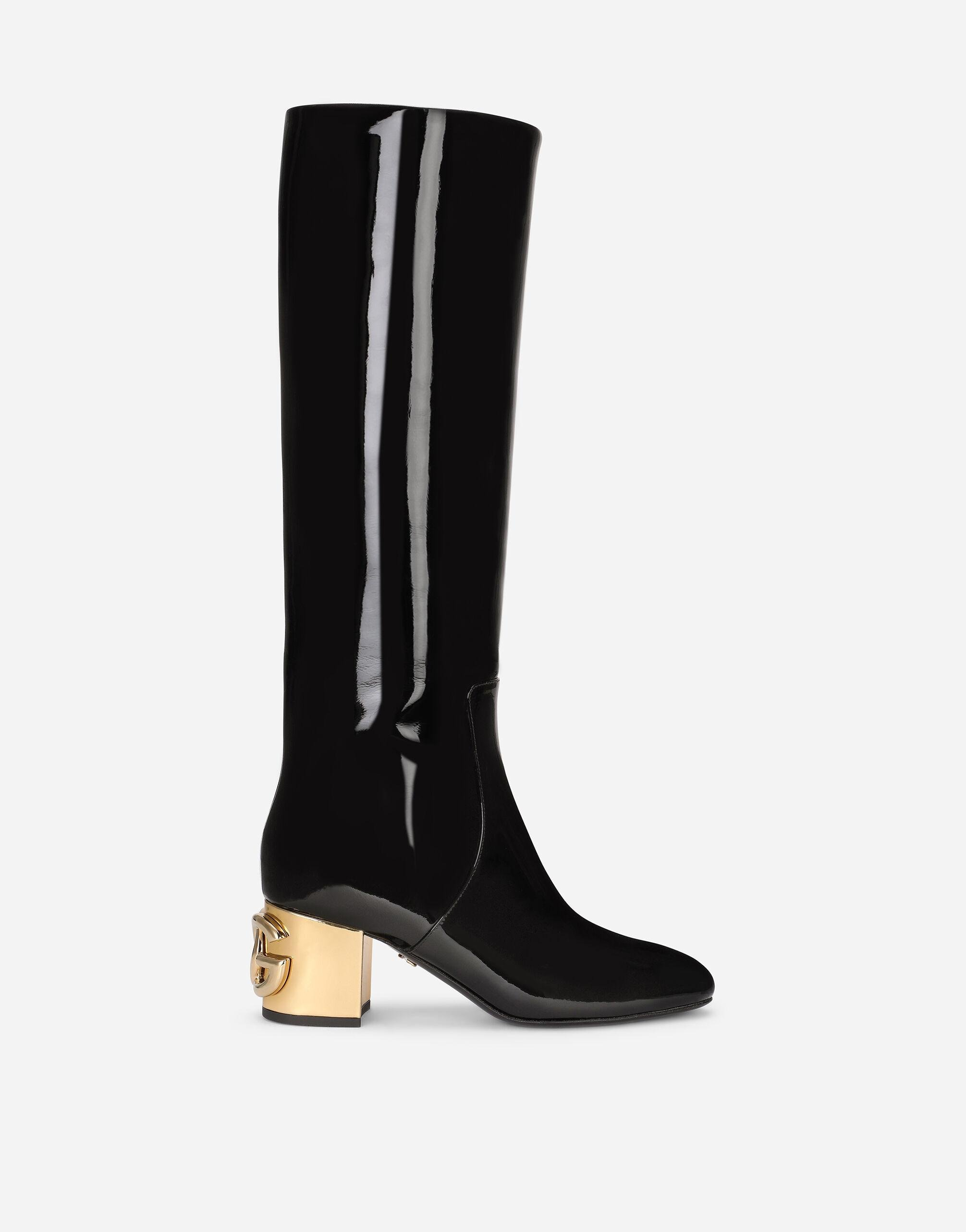 Patent leather boots with DG Karol heel