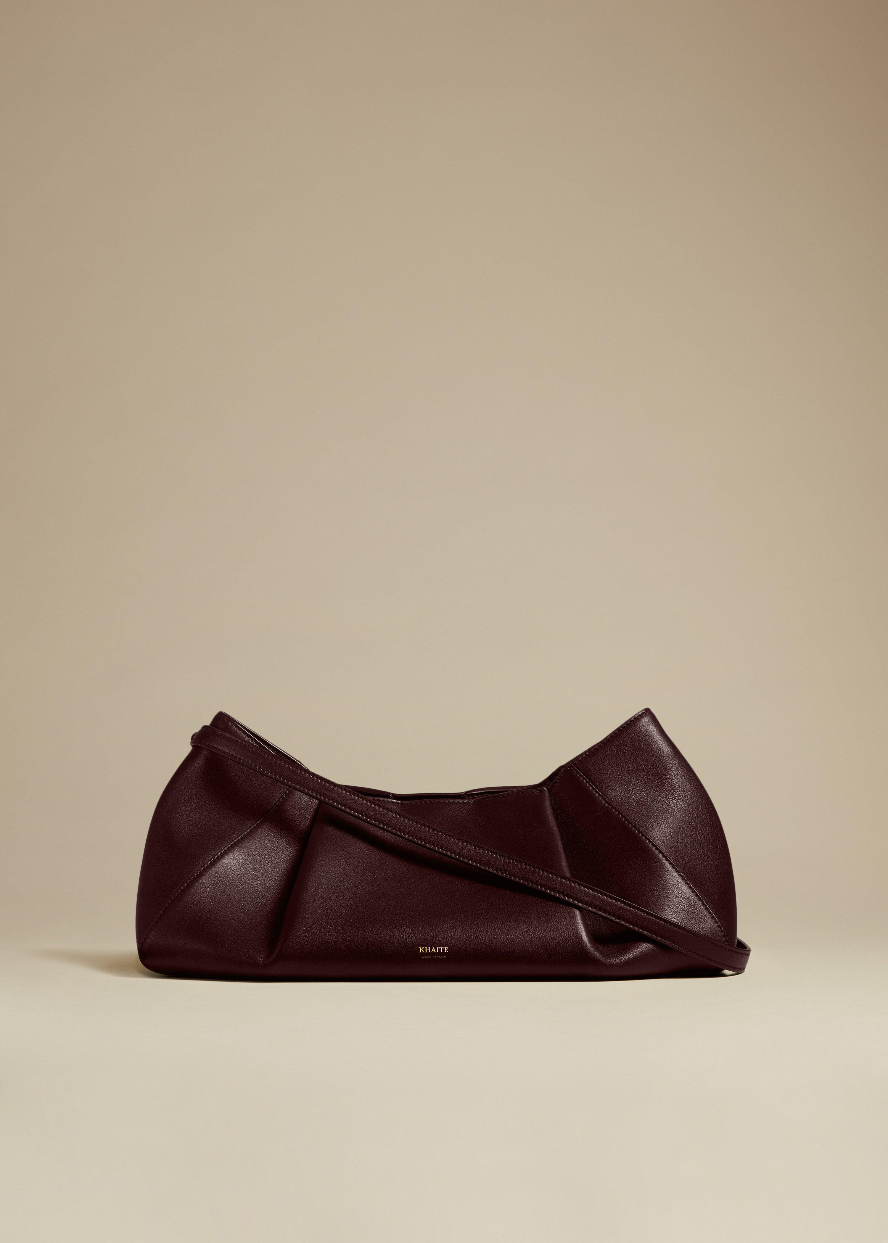 The Small Jeanne Crossbody Bag in Deep Red Leather