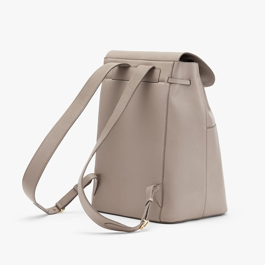 Women's Large Leather Backpack in Stone | Pebbled Leather by Cuyana 4