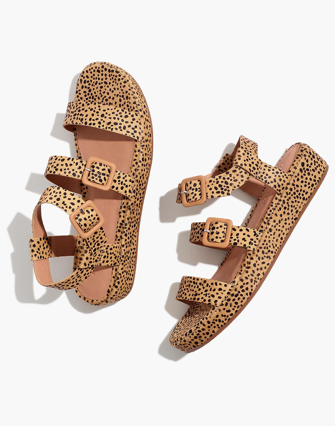 The Robin Platform Sandal in Spotted Calf Hair