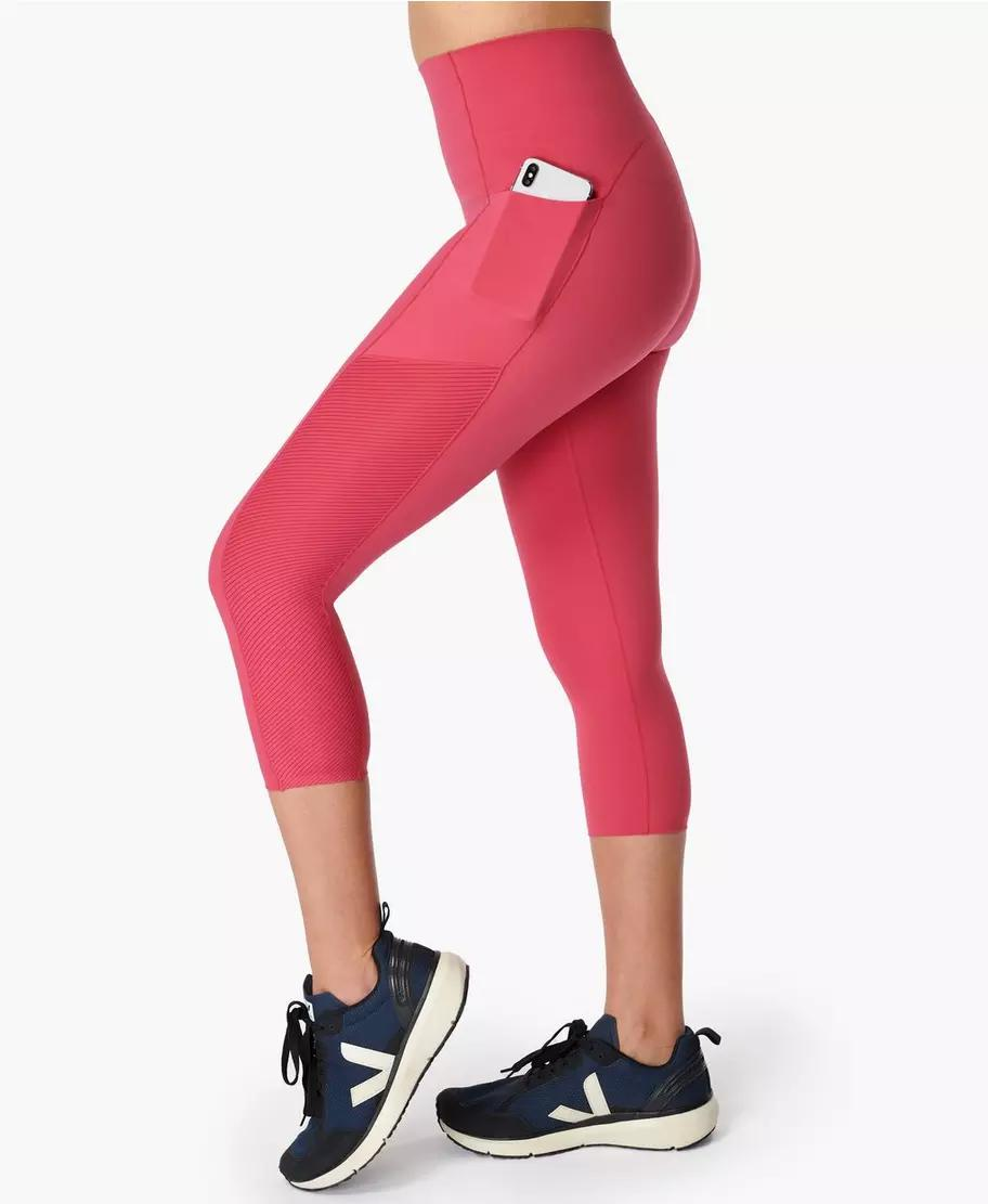Power High-Waisted Cropped Workout Leggings