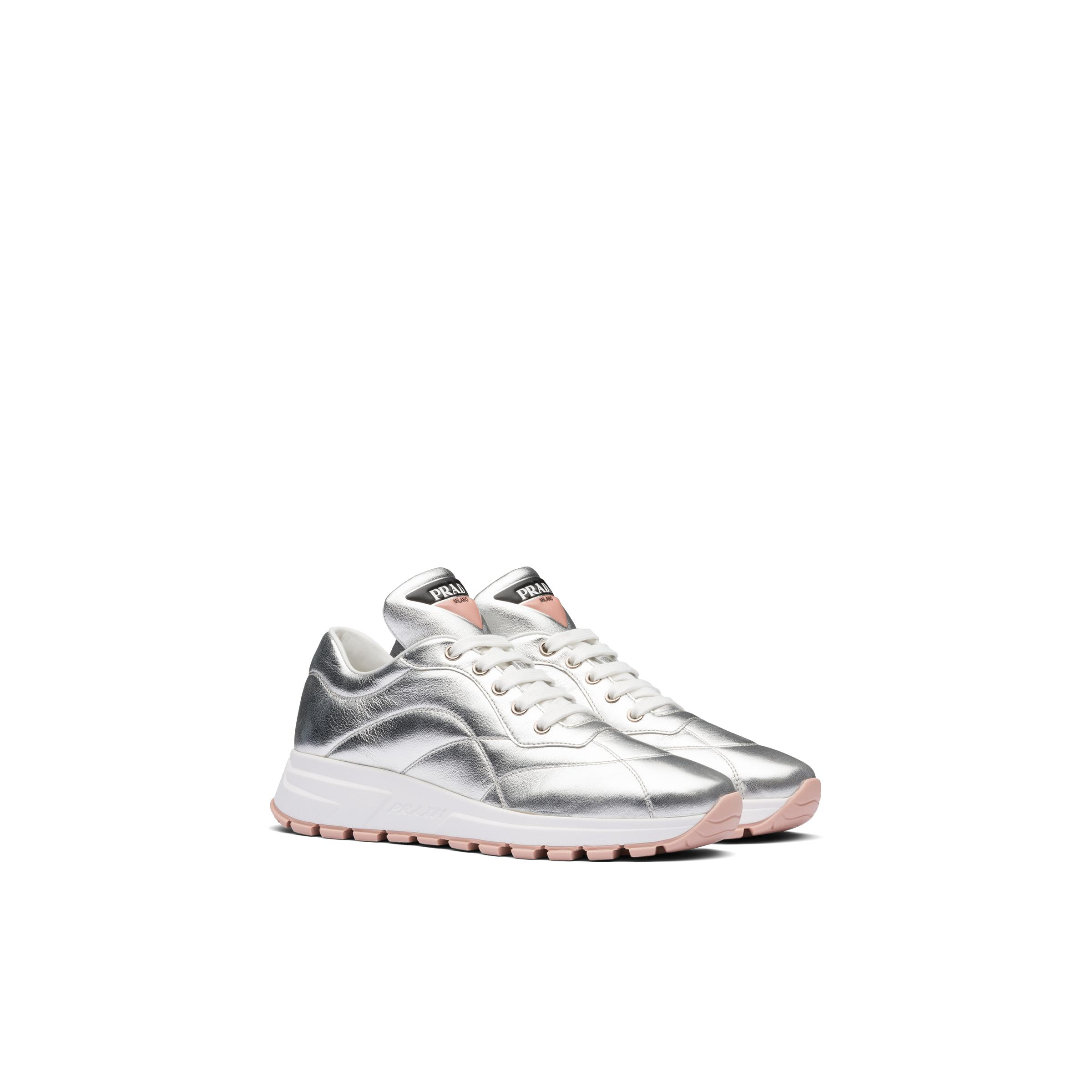 Prax 01 Nappa Leather Sneakers Women Silver/orchid