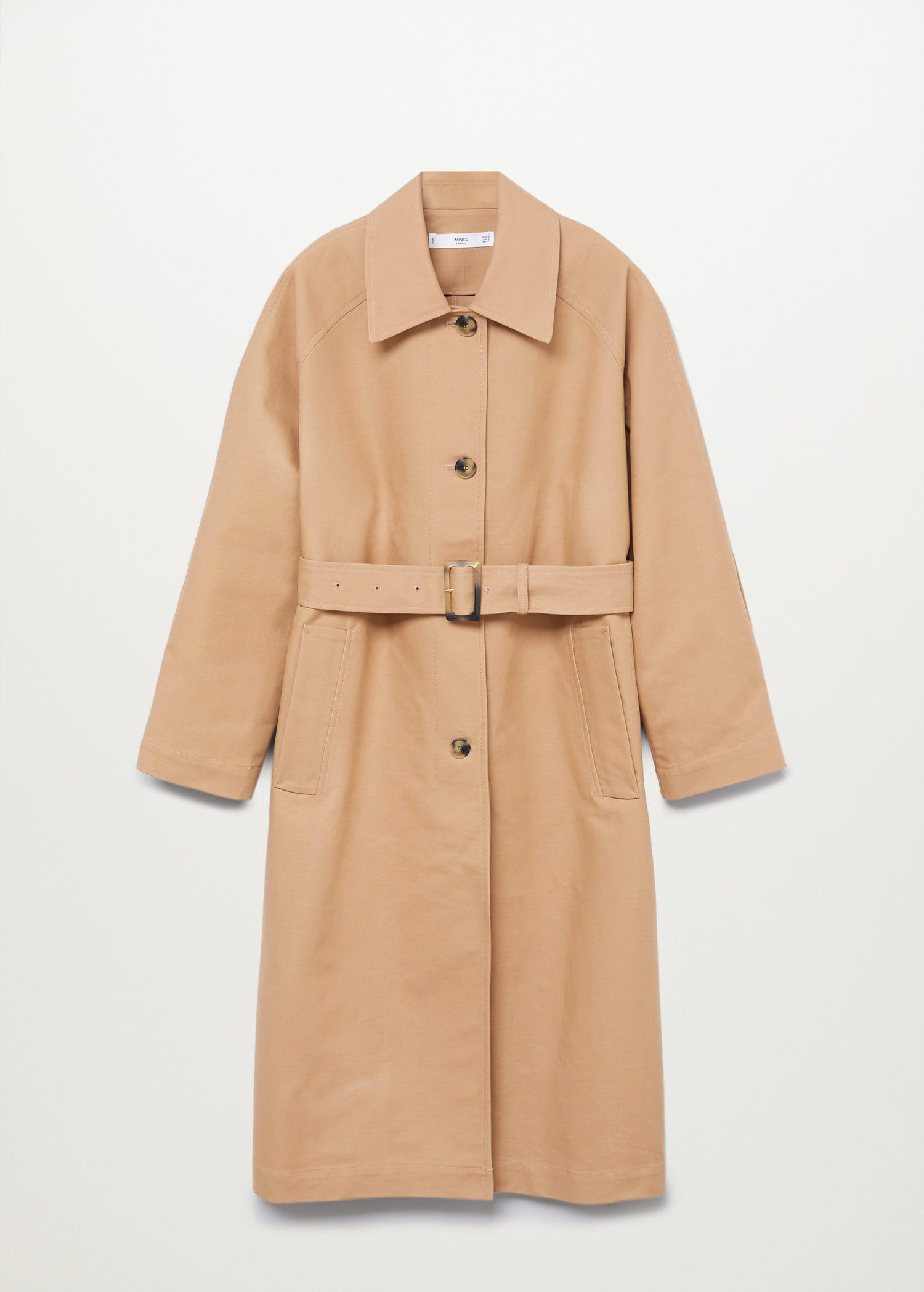 Water-repellent cotton trench 8