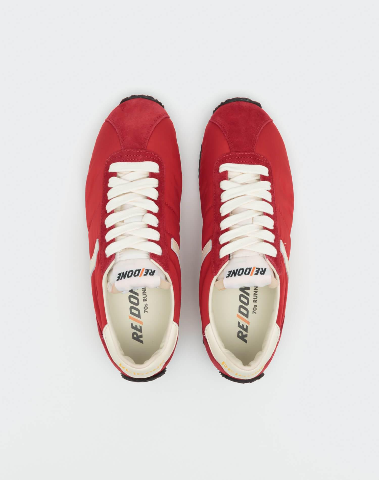 70s Runner Shoe - Red and White 2