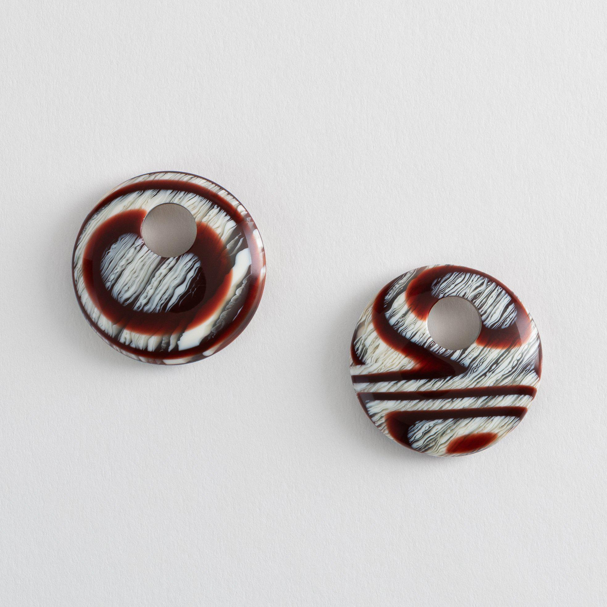 Disc Charms in Canyon Brown
