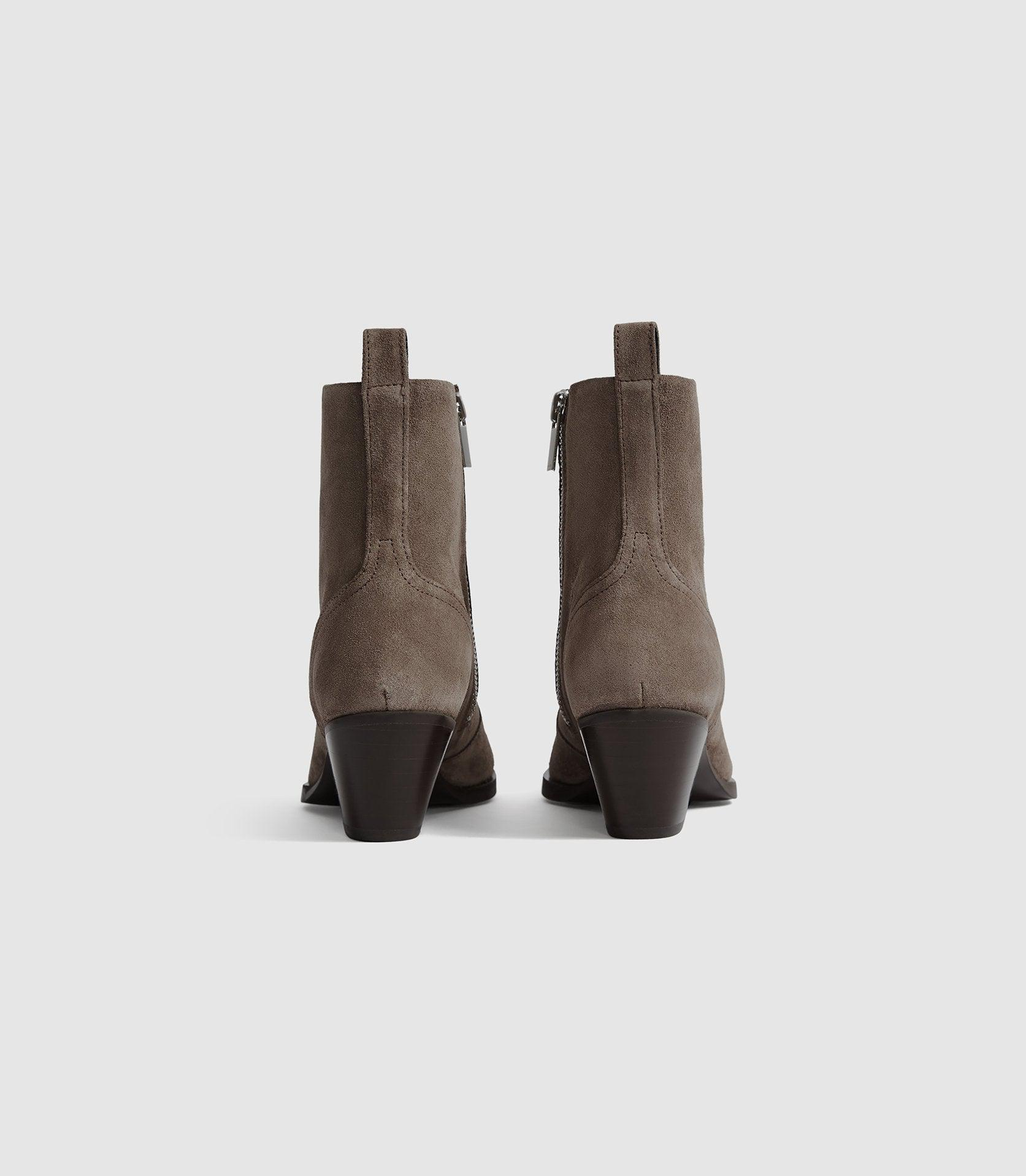 HAYWORTH SUEDE - SUEDE WESTERN ANKLE BOOTS 3