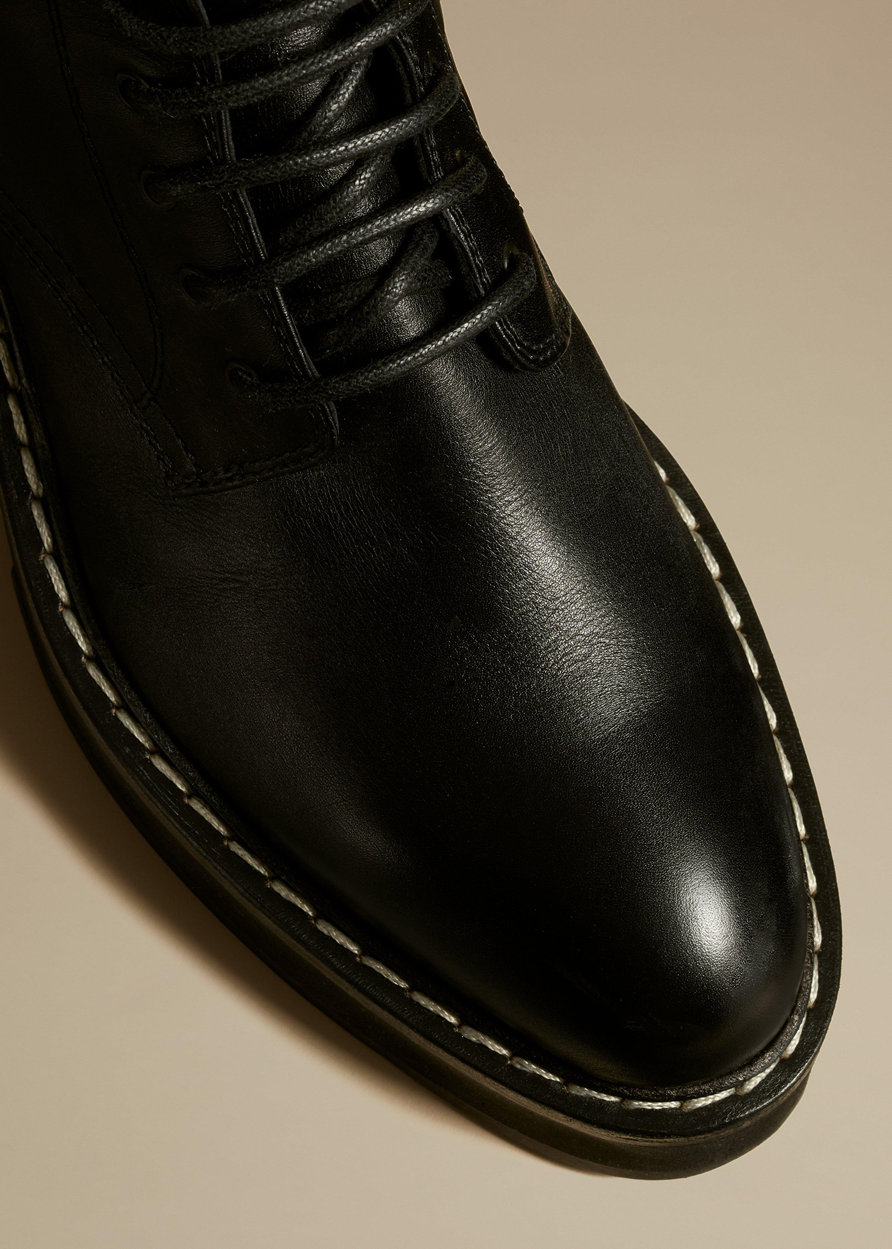 The Cody Boot in Black Leather 2