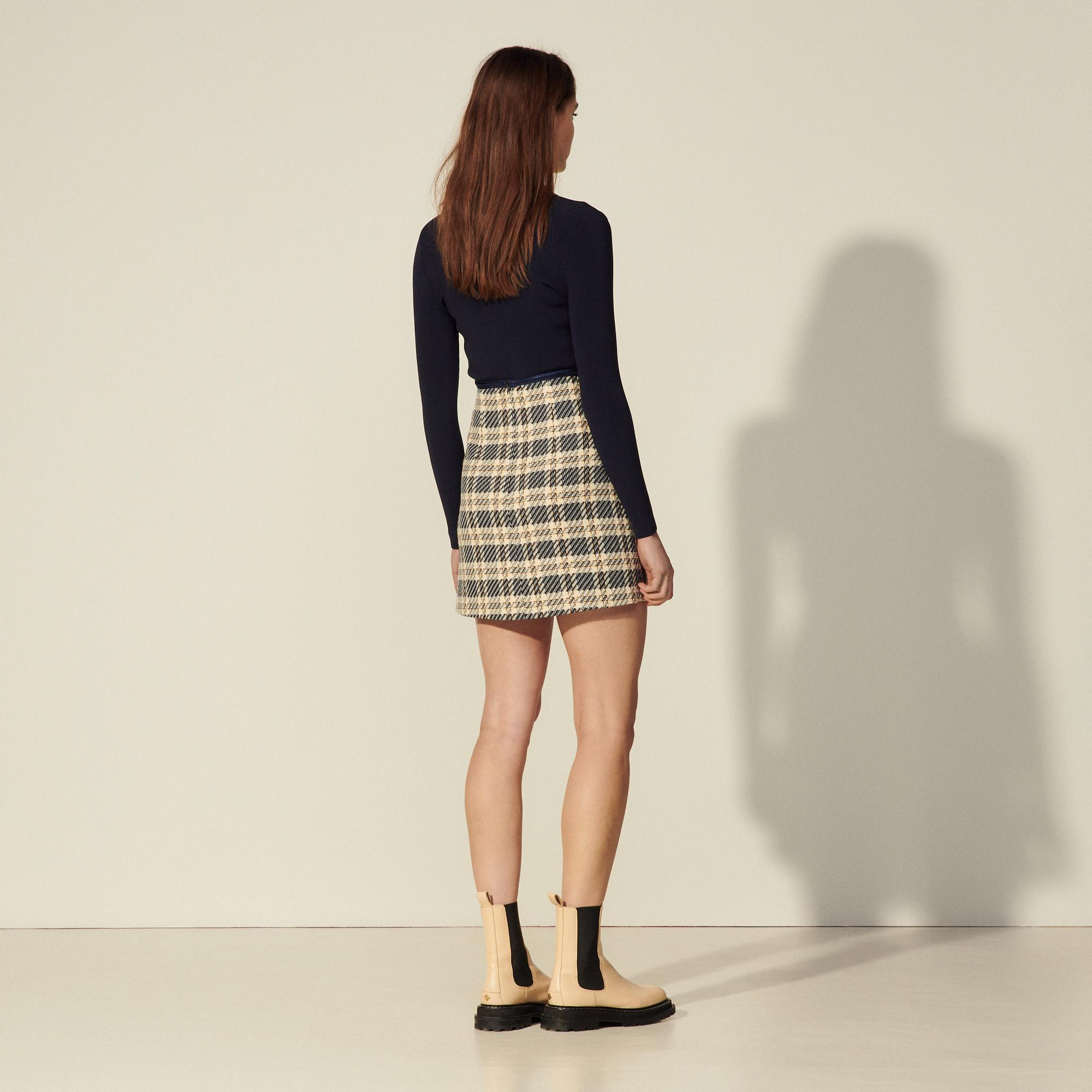 Checked tweed skirt 1