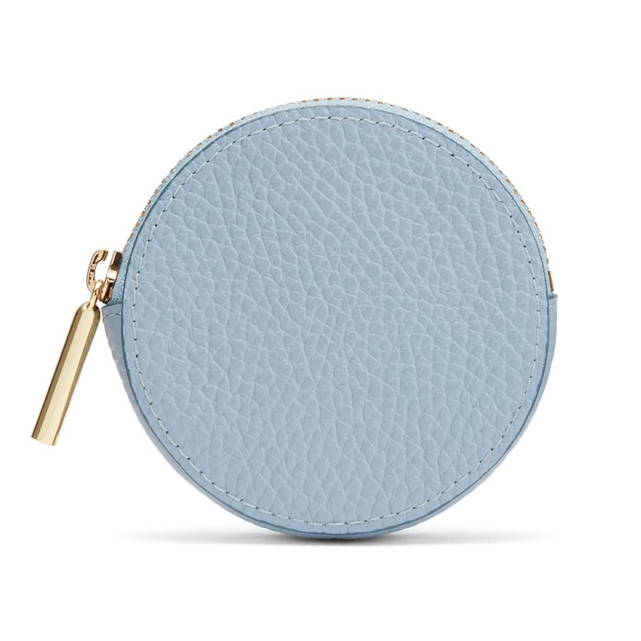 Women's Leather Coin Pouch in Dusk Blue | Pebbled Leather by Cuyana