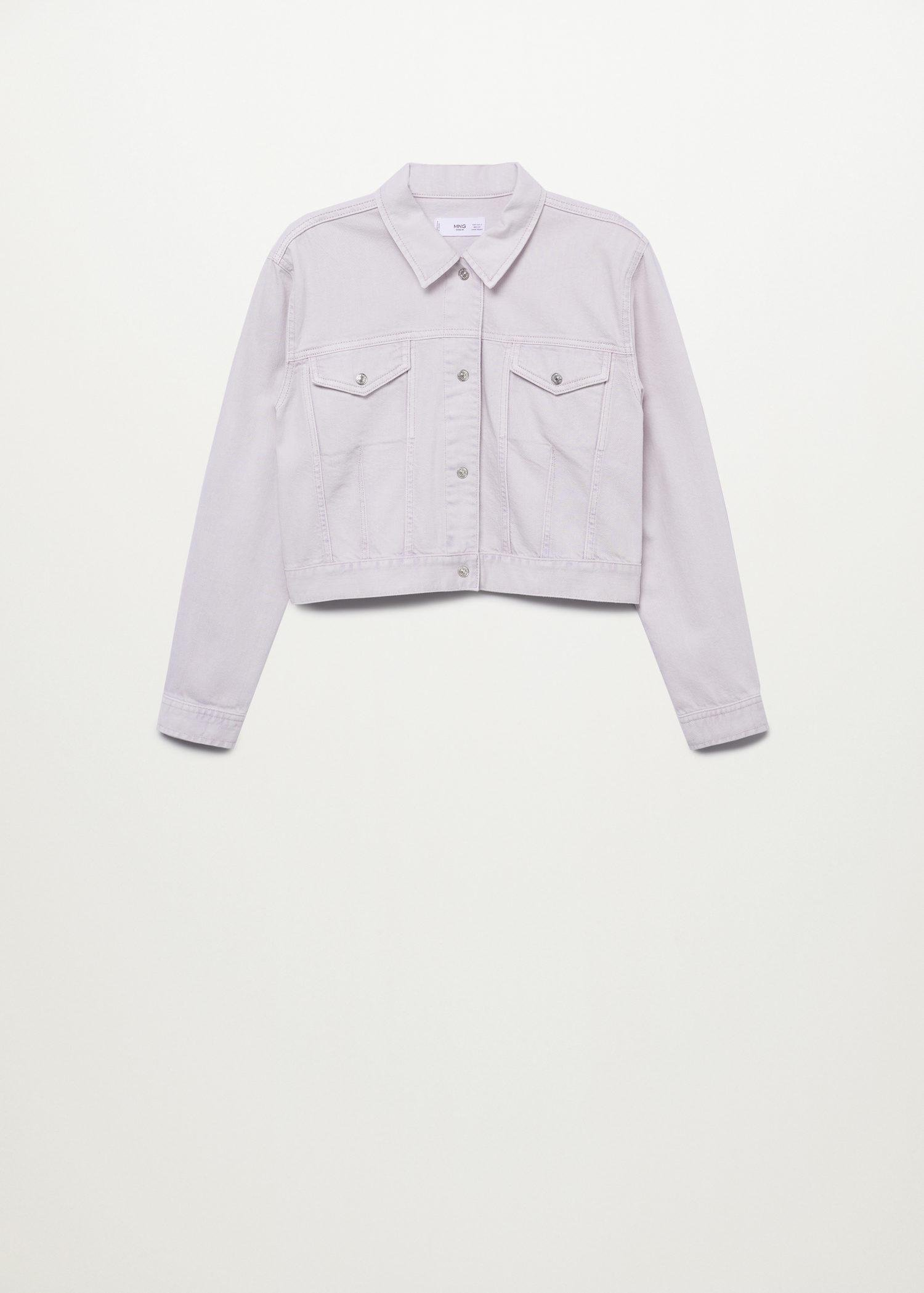 Cropped jacket with shoulder pads 9