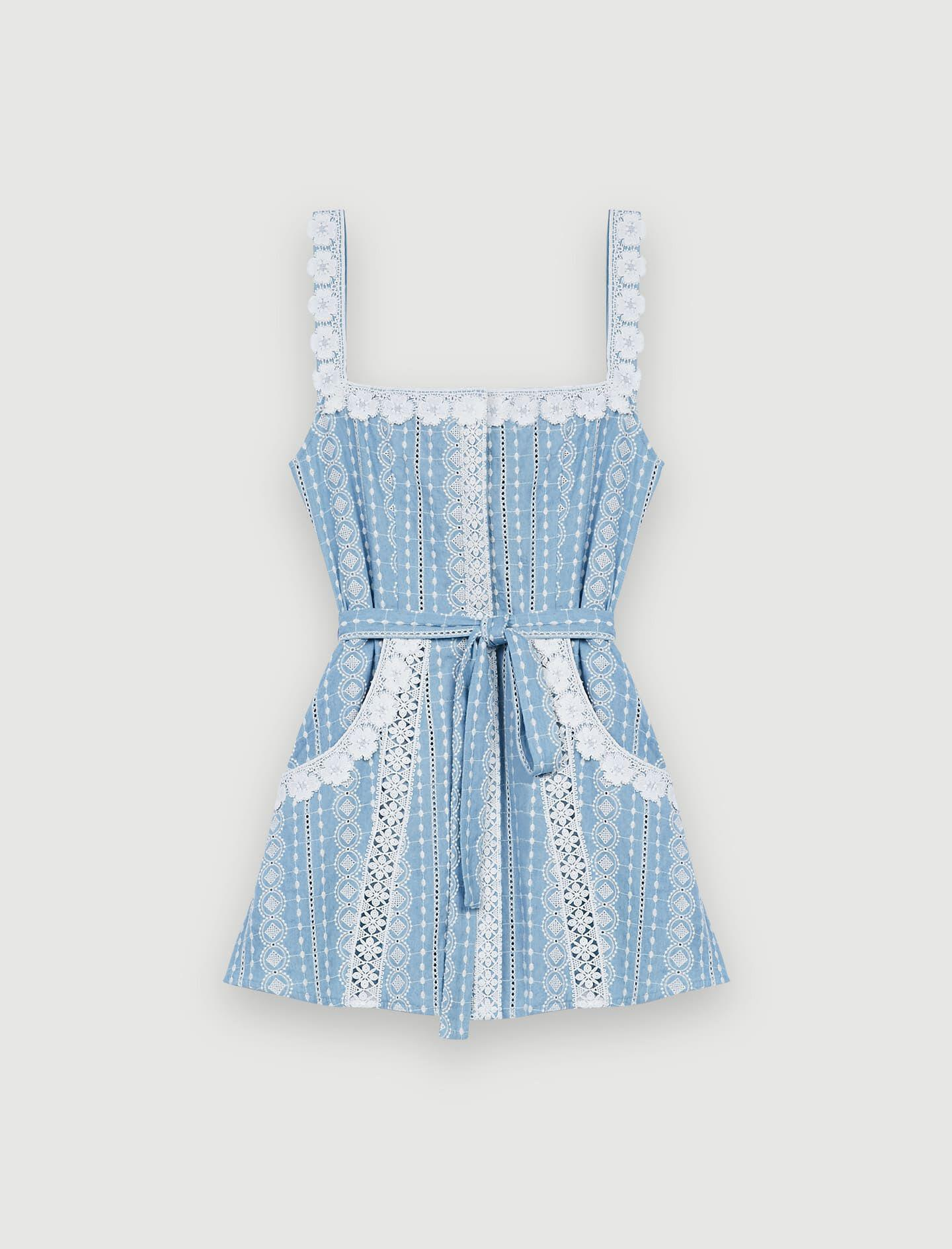 ROMPER WITH CONTRASTING TRIMS 5