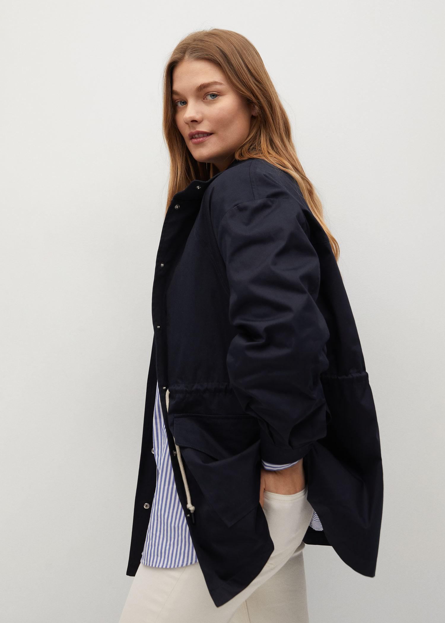 Trench coat with ruffle detail 5