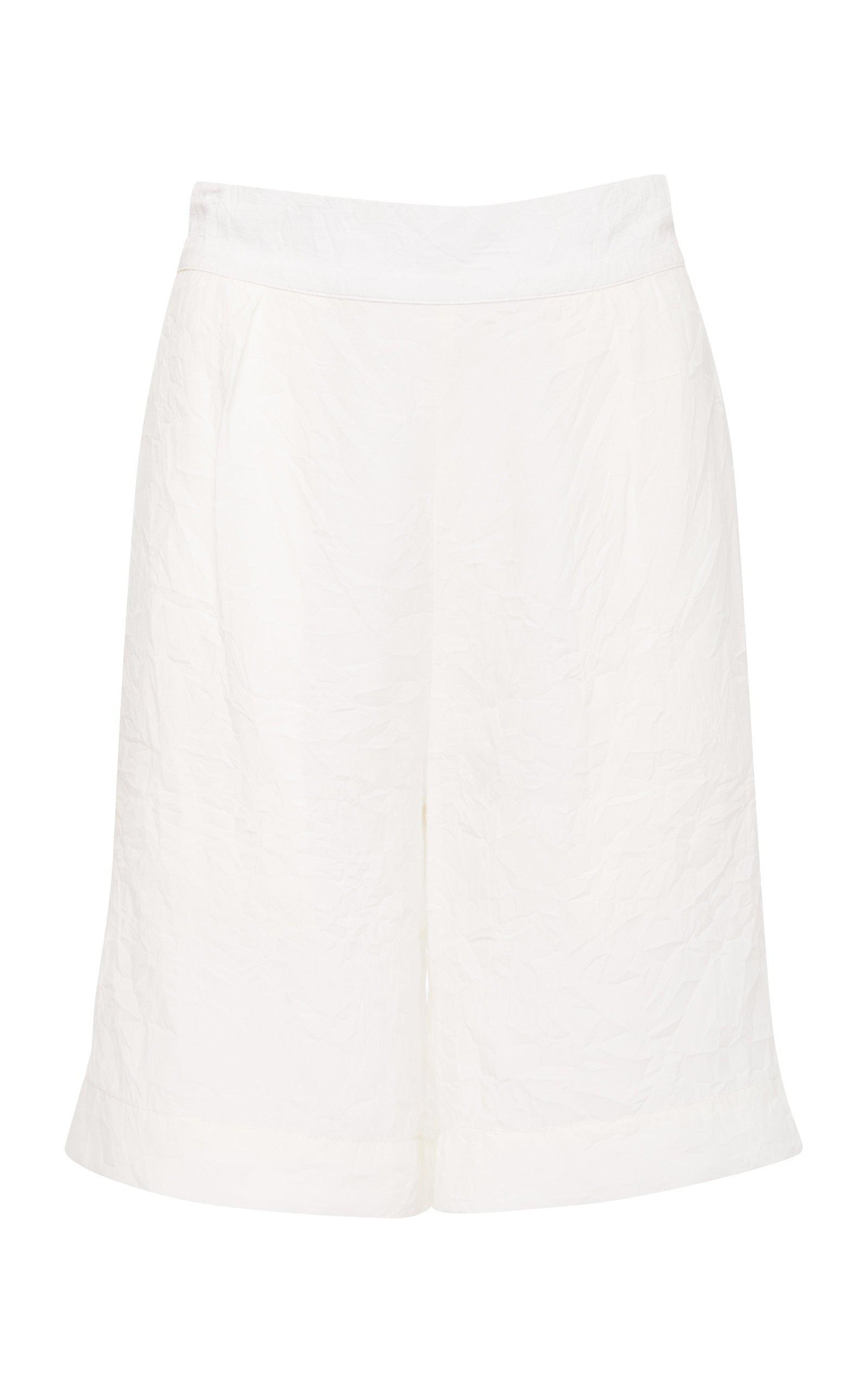 The High-Waisted Boardshort in Sheer Ramie