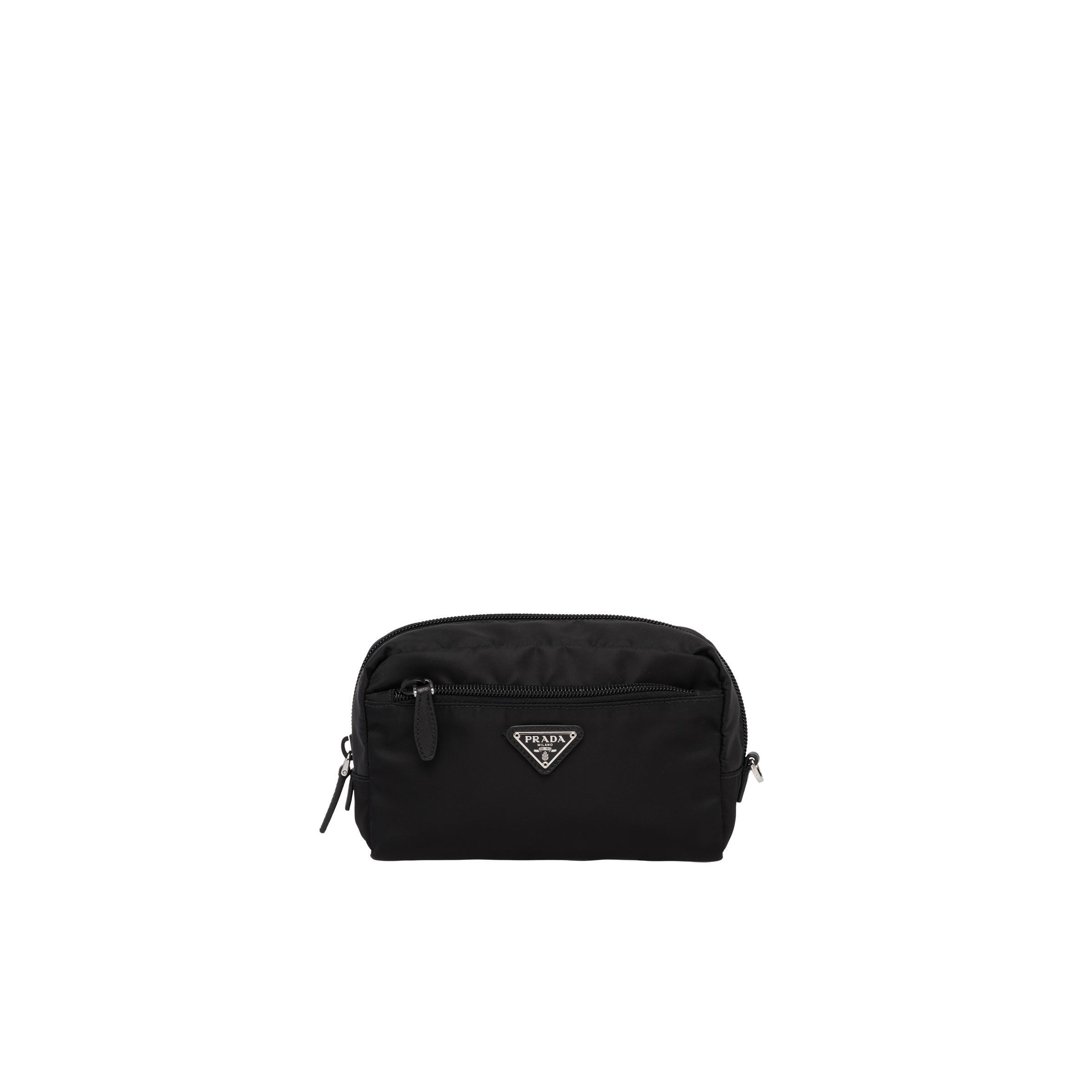 Fabric Cosmetic Pouch Women Black