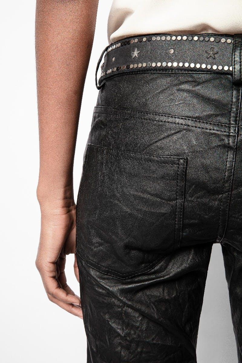 Phlame Crinkle Leather Pants 4