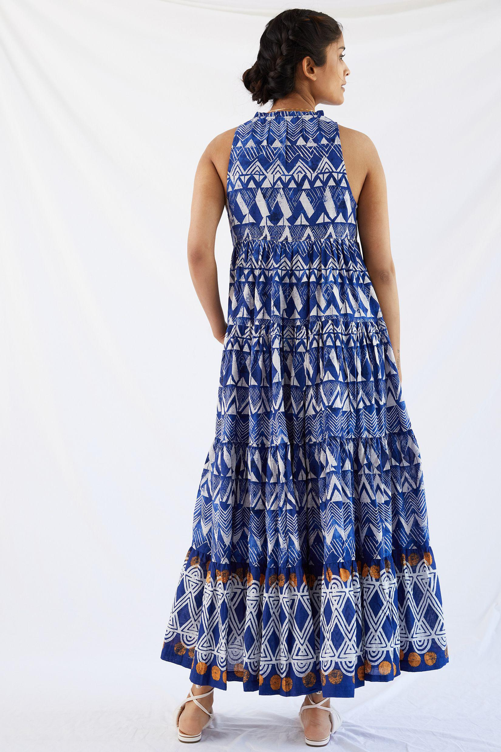 Tiered Abstract Maxi Dress 3