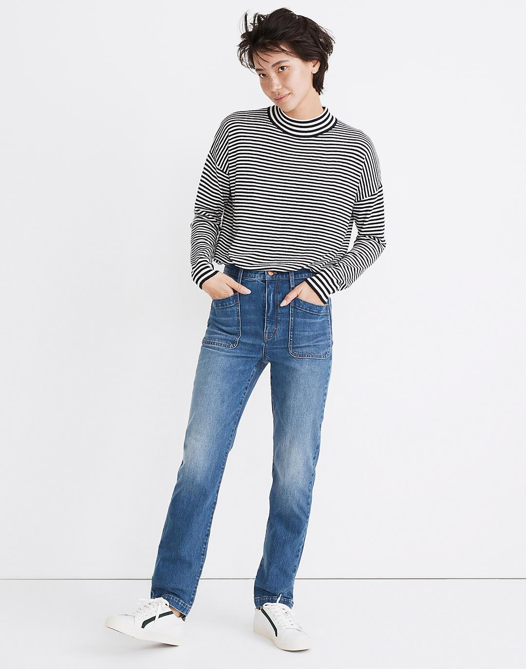Classic Straight Full-Length Jeans in Marfield Wash: Surplus Pocket Edition