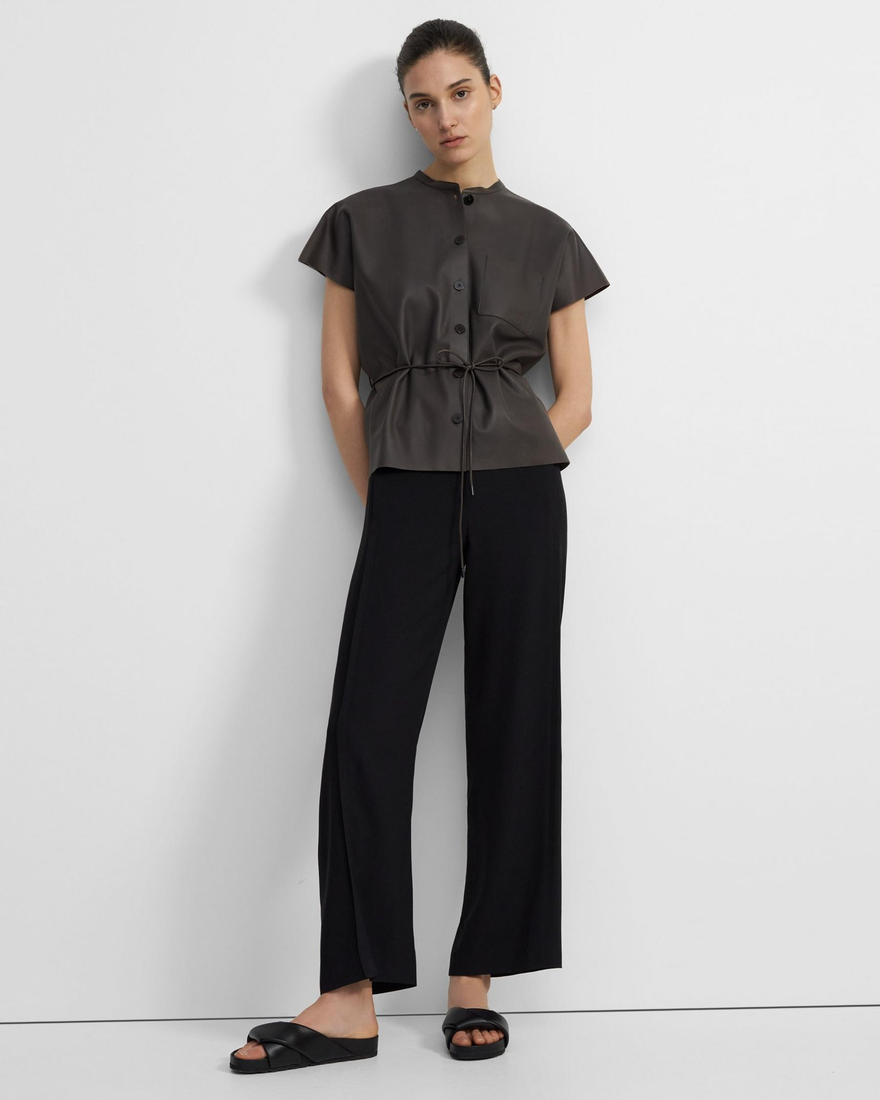 Triangle Shirt in Paper Faux Leather 3