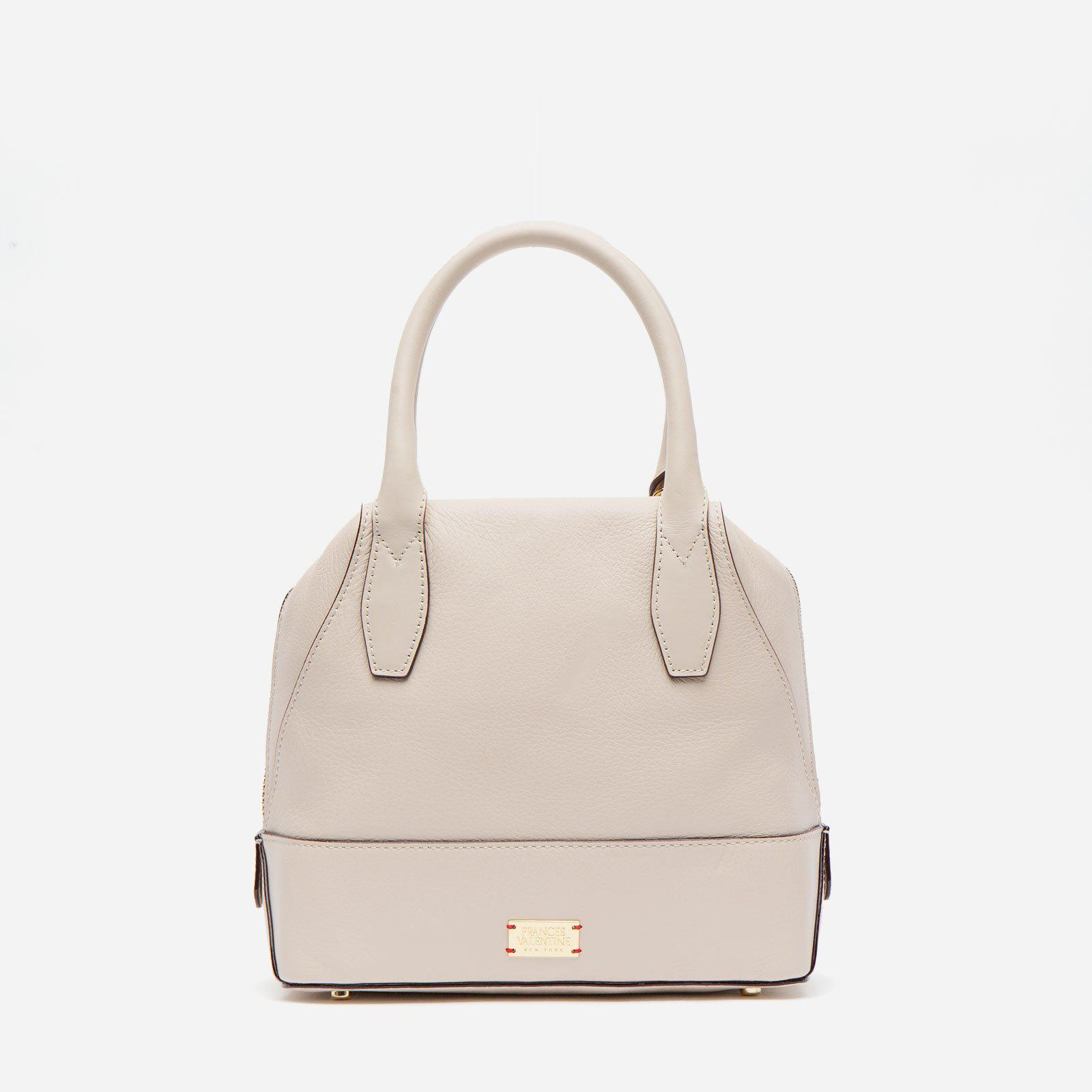 Small Abby Tote Tumbled Leather Oyster