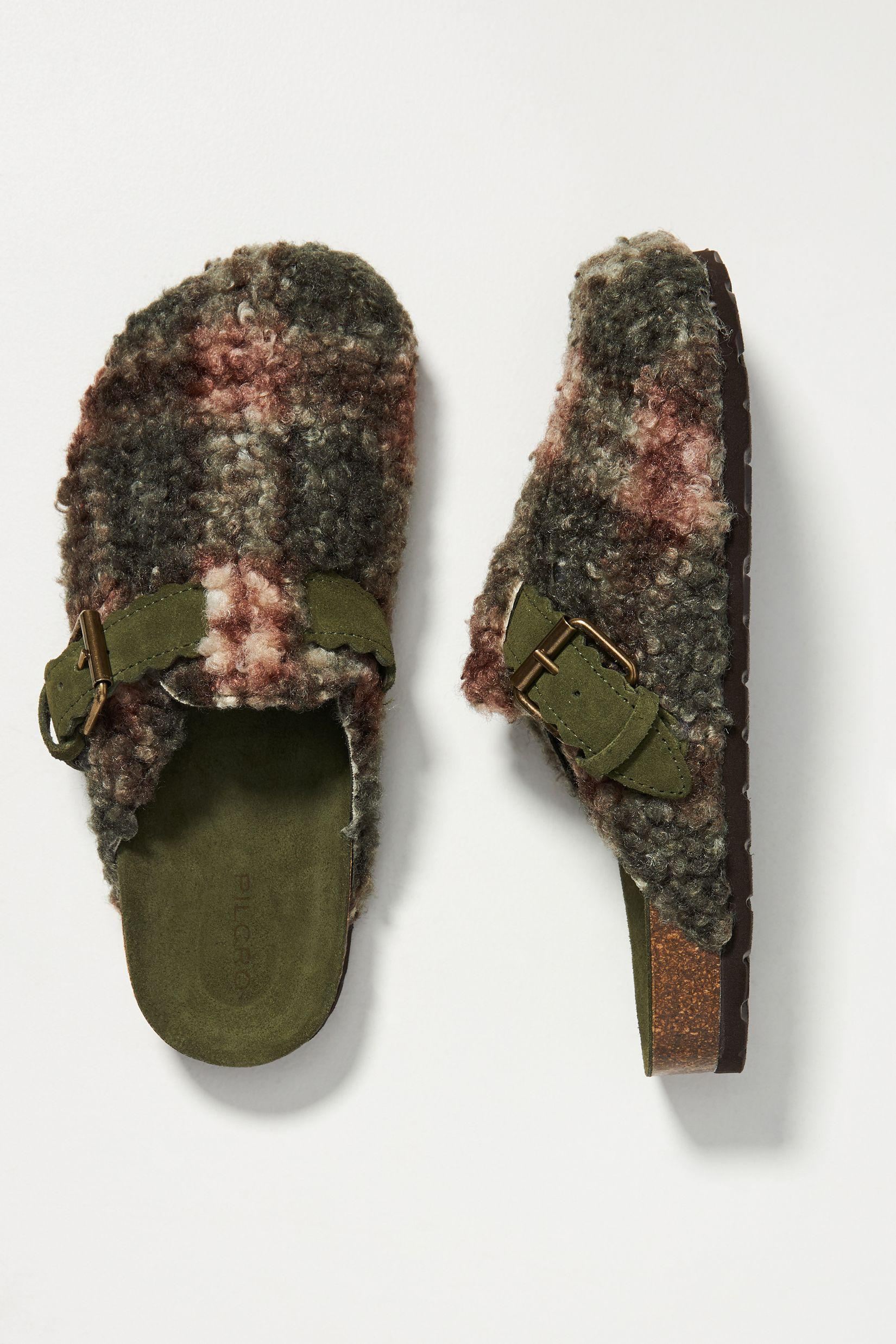 Plaid Sherpa-Lined Clogs