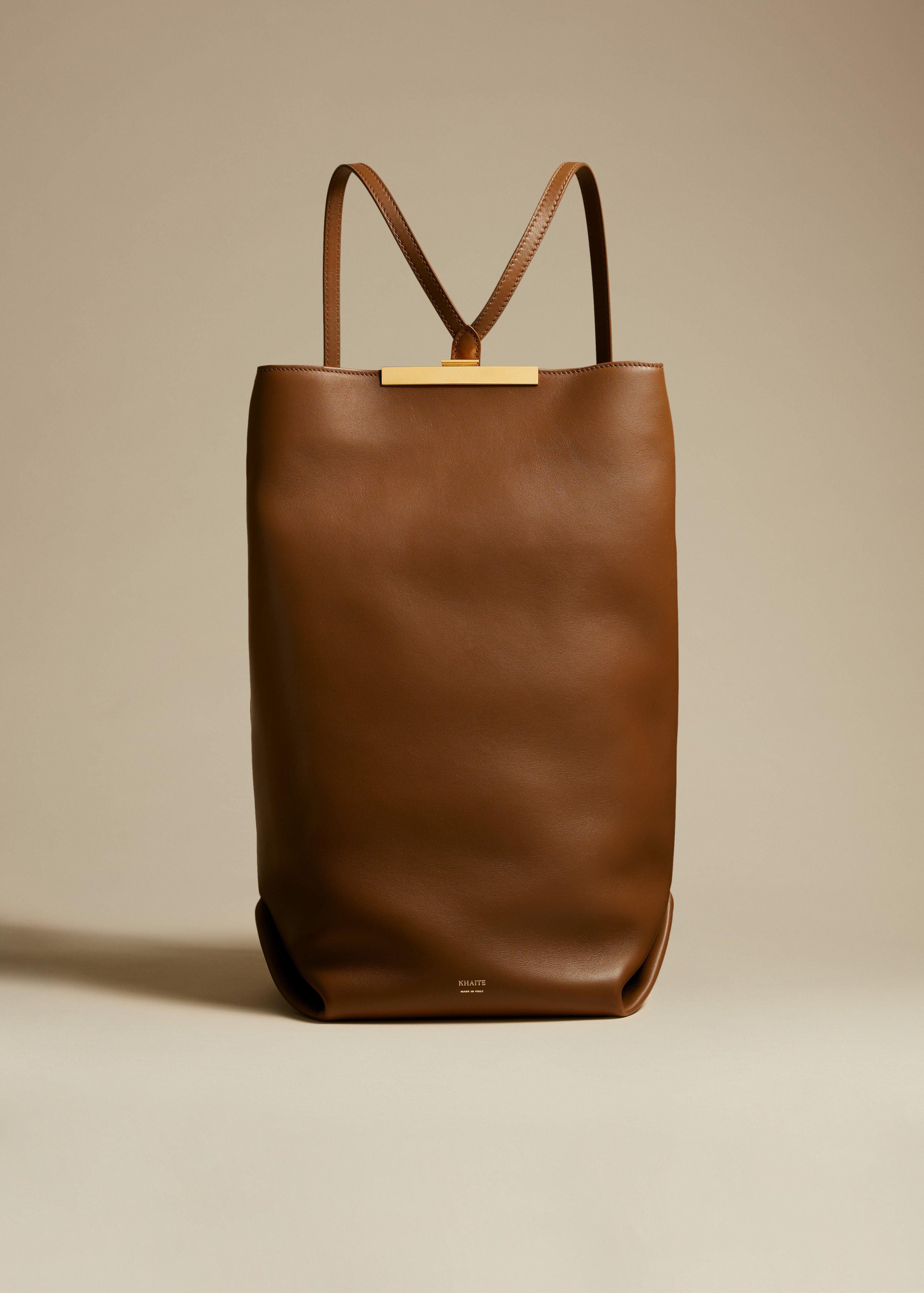 The Iris Backpack in Caramel Leather