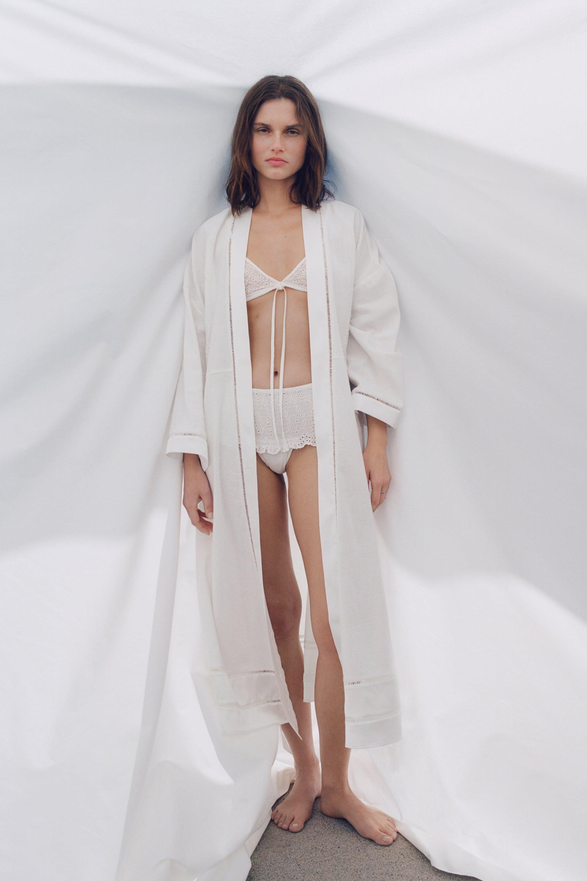 EMBROIDERED LONG ROBE
