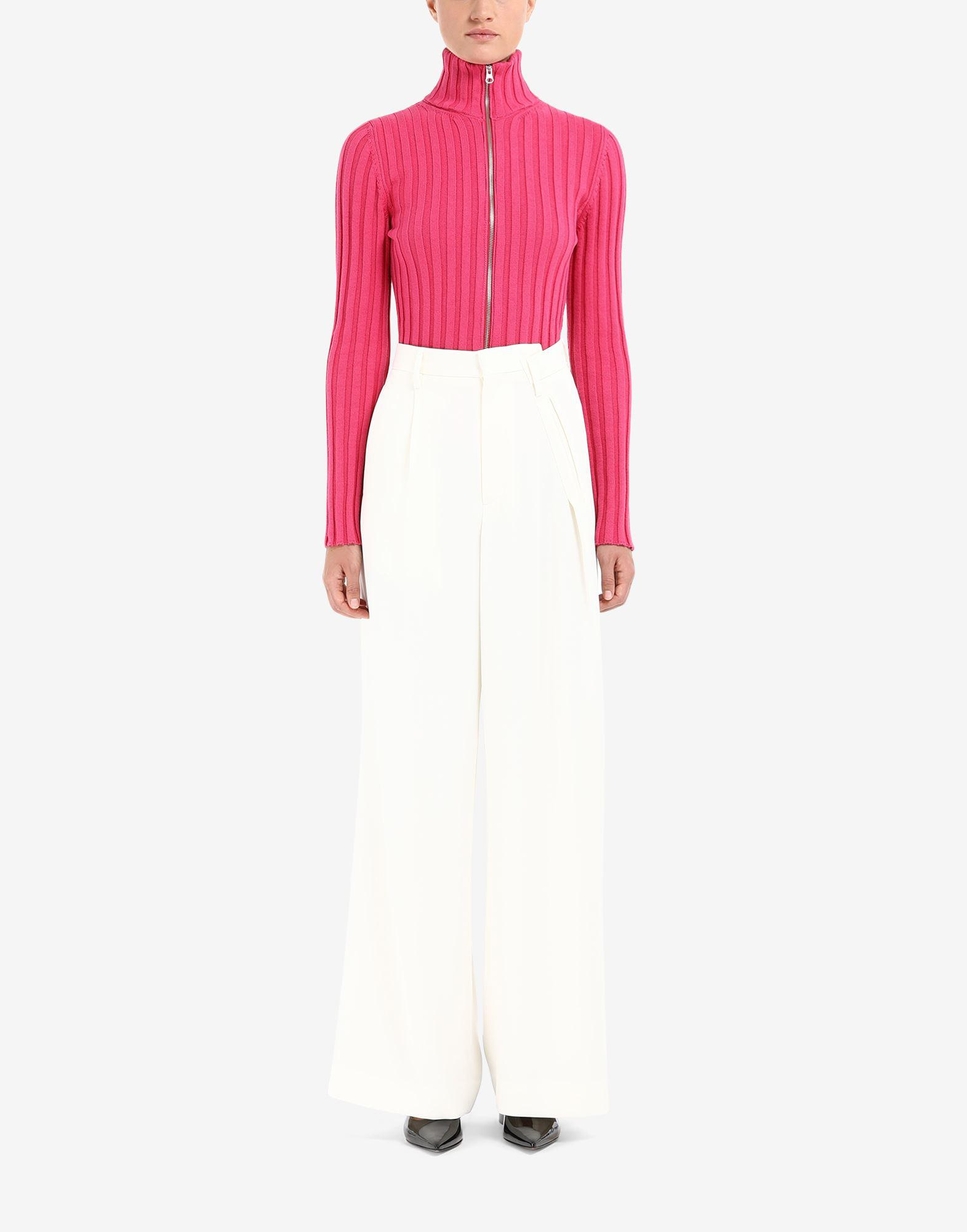 Distorted waistband trousers