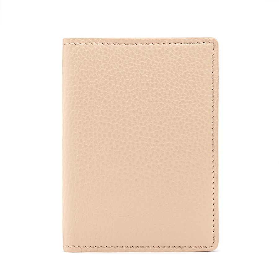 Women's Slim Leather Passport Case in Blush Pink | Pebbled Leather by Cuyana