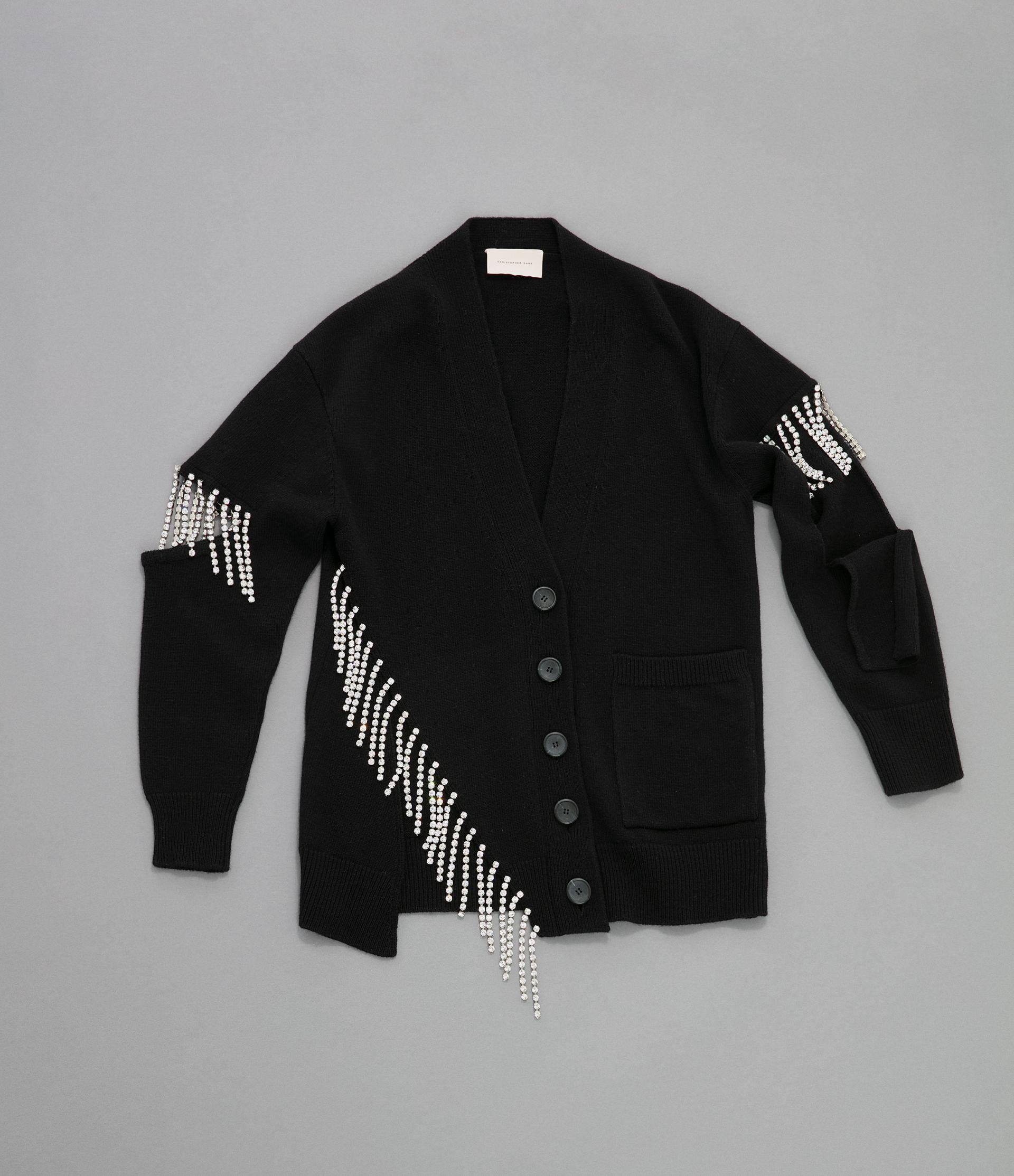 cut-out cupchain knitted cardigan 4