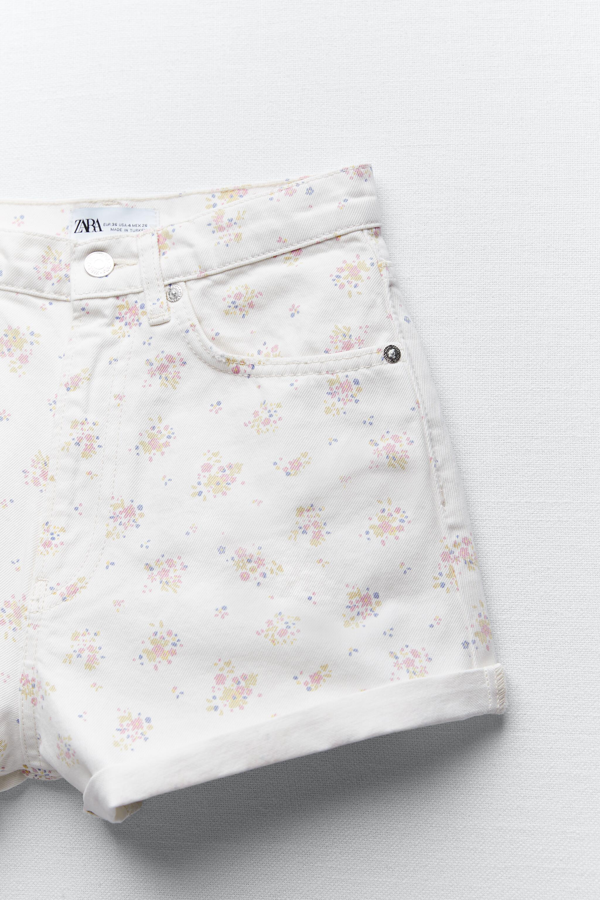 PRINTED MOM FIT ROLLER SHORTS 7